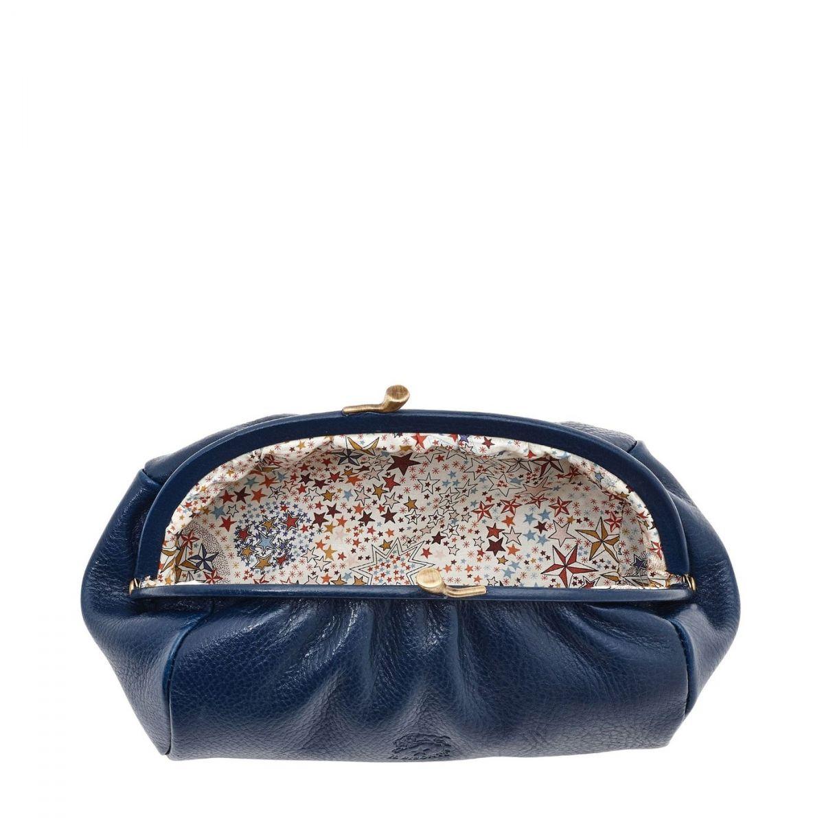 Étui pour Femme  en Cuir De Vachette SCA009 couleur Bleu | Details