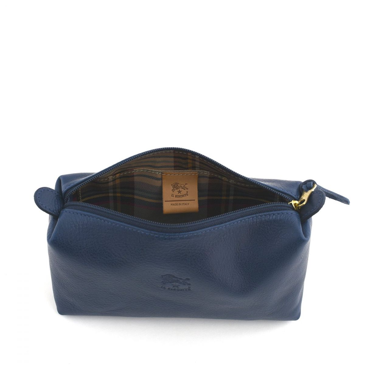 Women's Case  in Cowhide Double Leather SCA012 color Blue | Details