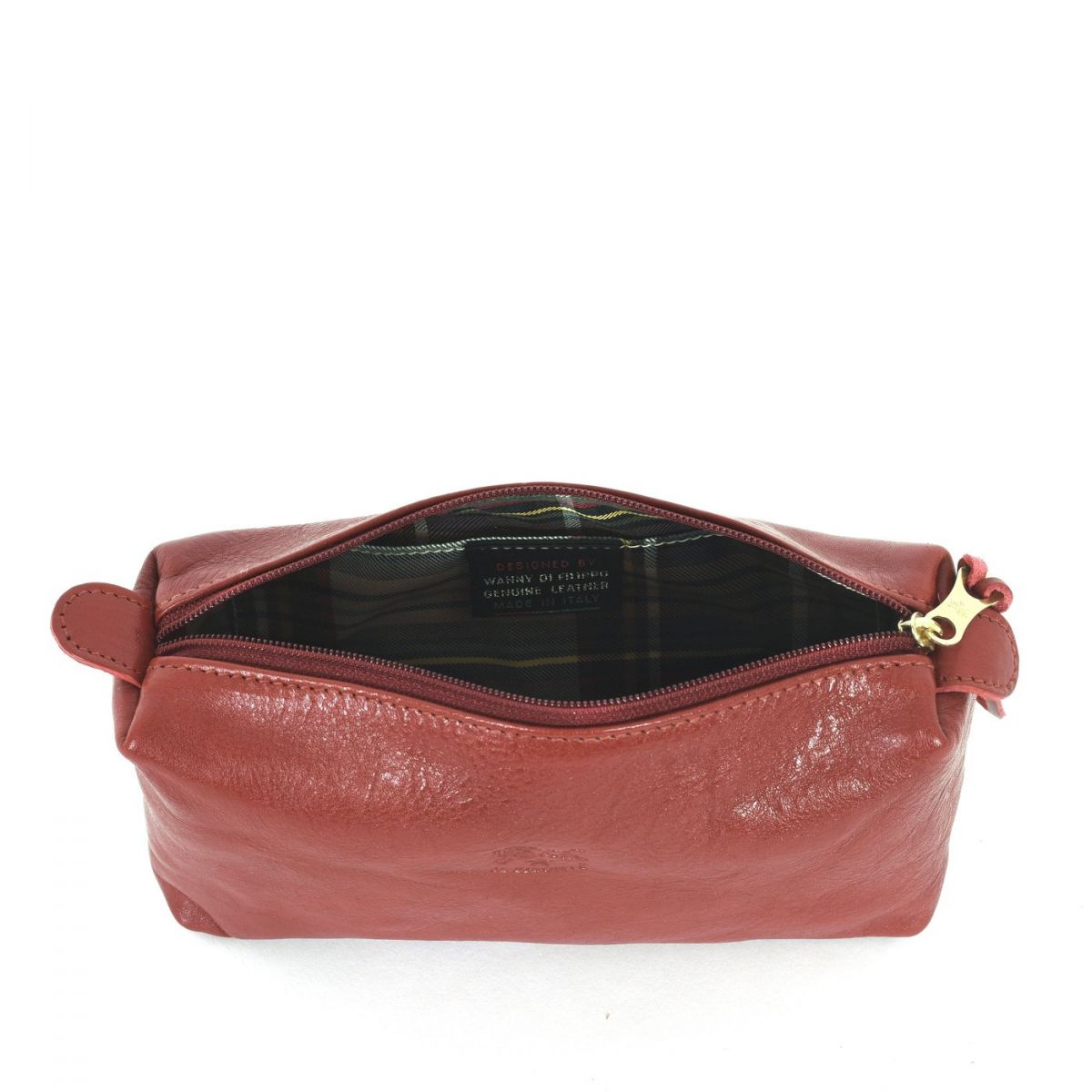 Women's Case  in Cowhide Double Leather SCA012 color Red | Details