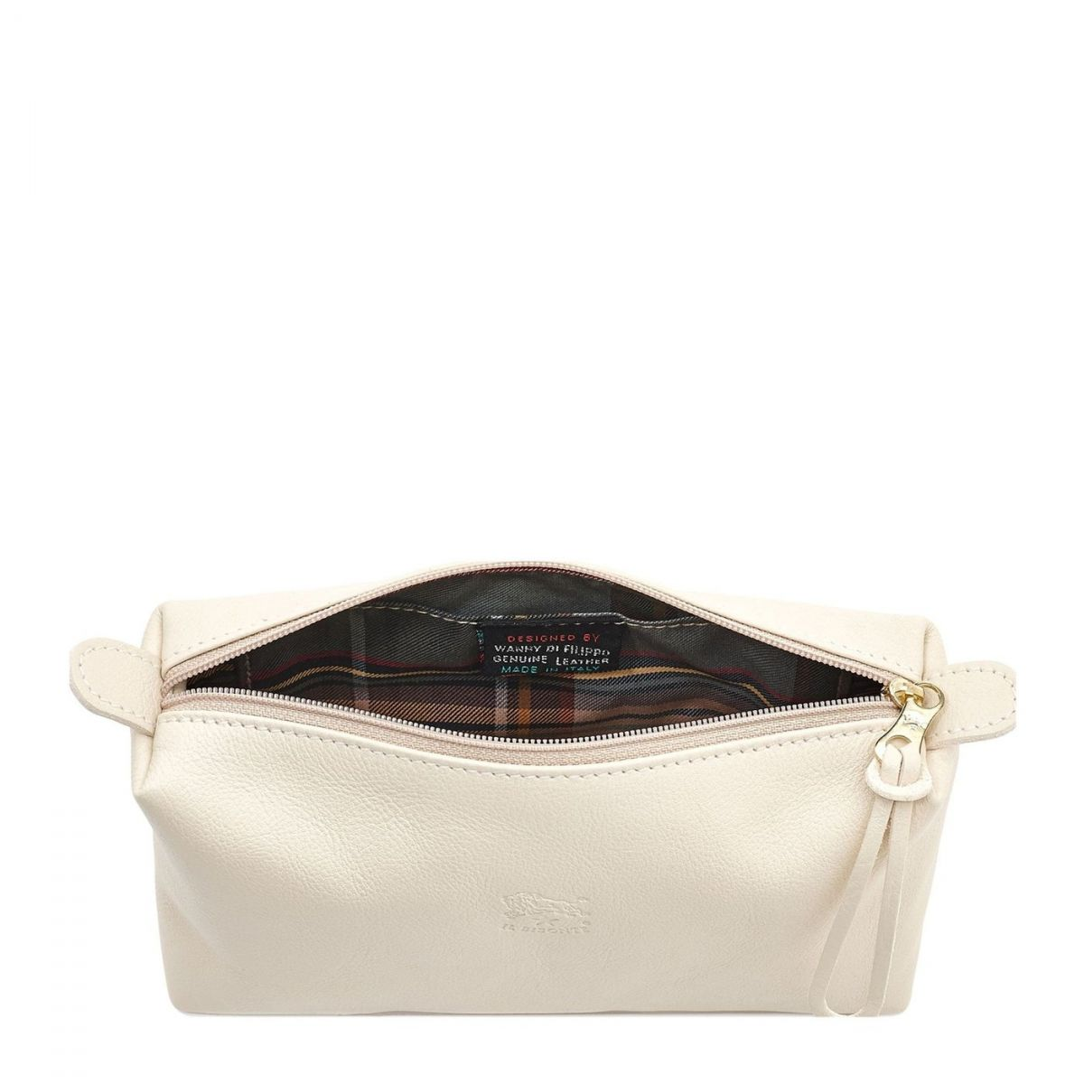 Women's Case  in Cowhide Double Leather SCA012 color Ivory | Details