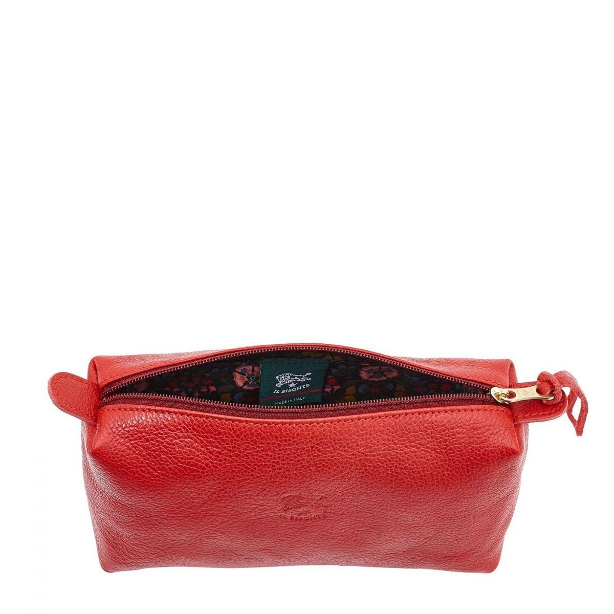 Étui pour Femme  en Cuir De Vachette SCA012 couleur Rouge | Details