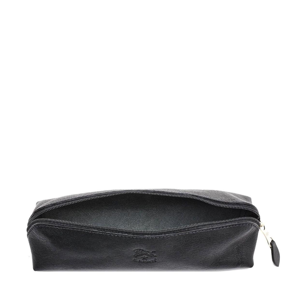 Étui pour Femme  en Cuir De Vachette Doublé SCA020 couleur Noir | Details