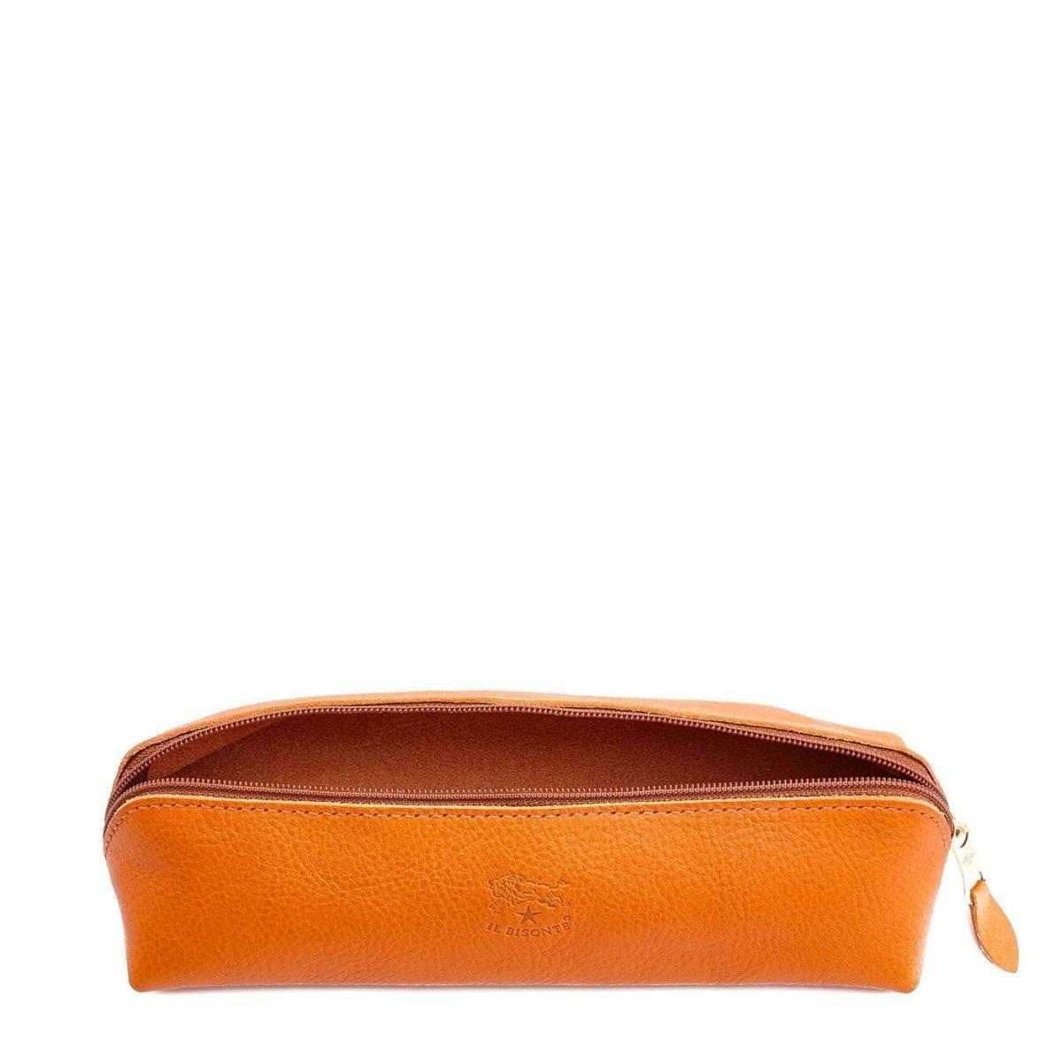 Women's Case  in Cowhide Double Leather SCA020 color Orange | Details