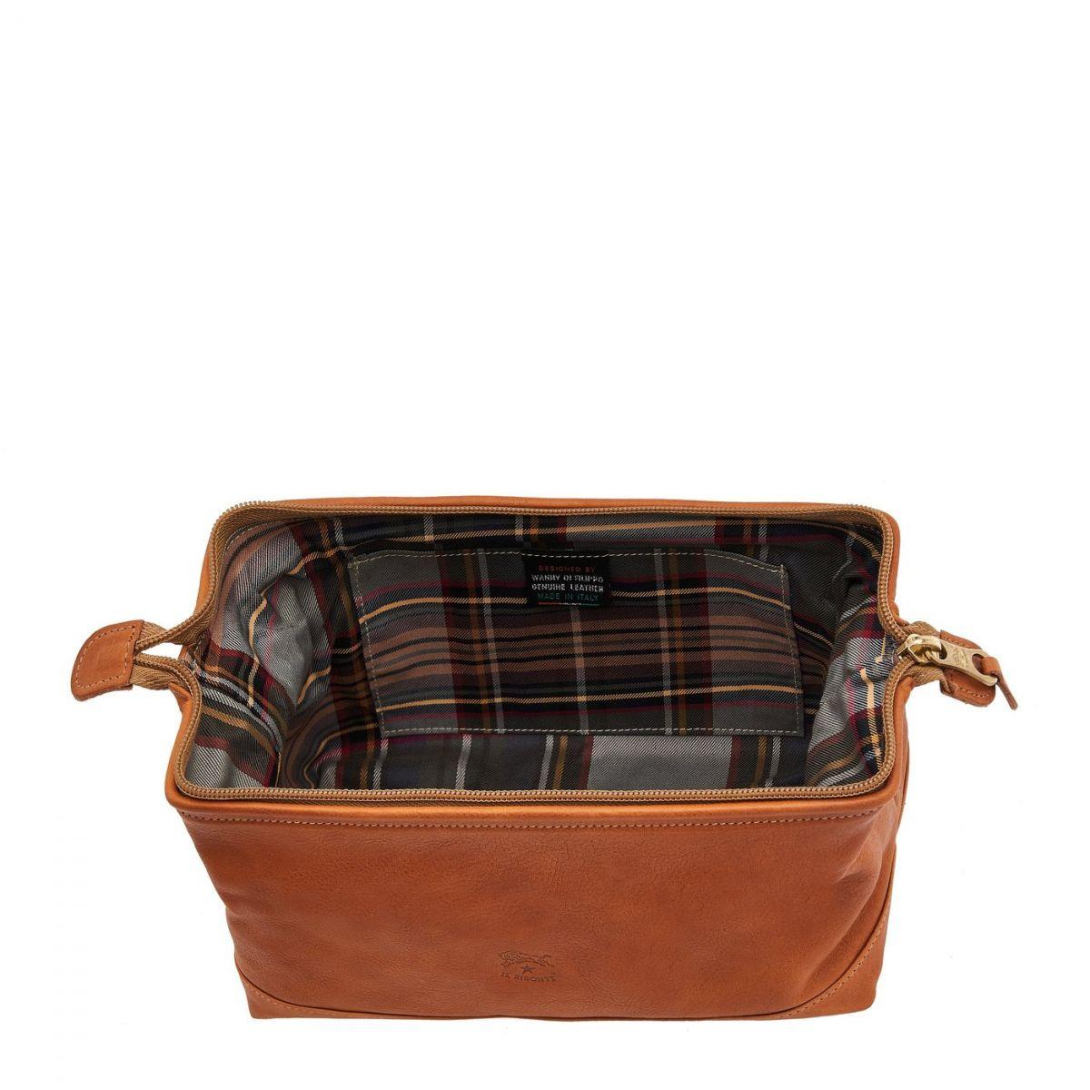 Men's Case  in Vintage Cowhide Leather SCA024 color Natural | Details