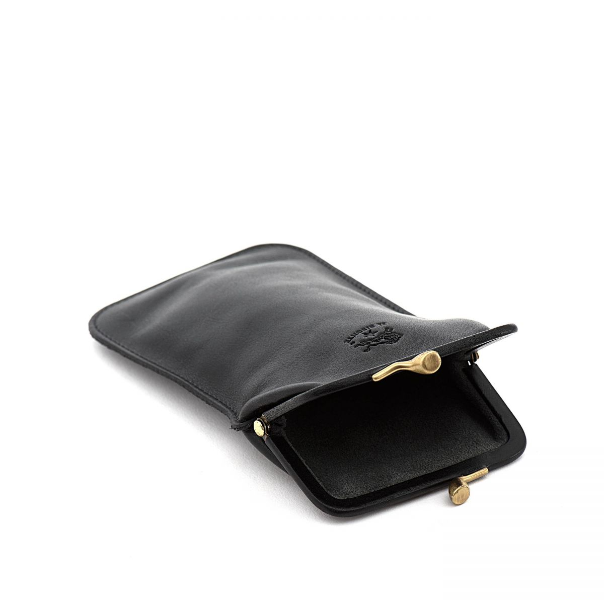 Case in Cowhide Double Leather color Black - SCA025 | Details