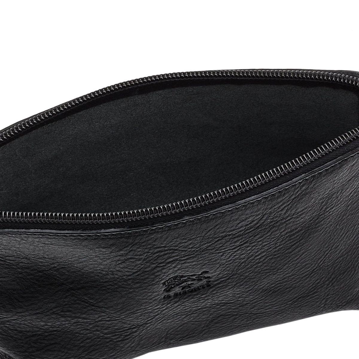 Étui pour Femme  en Cuir De Vachette Doublé SCA033 couleur Noir | Details