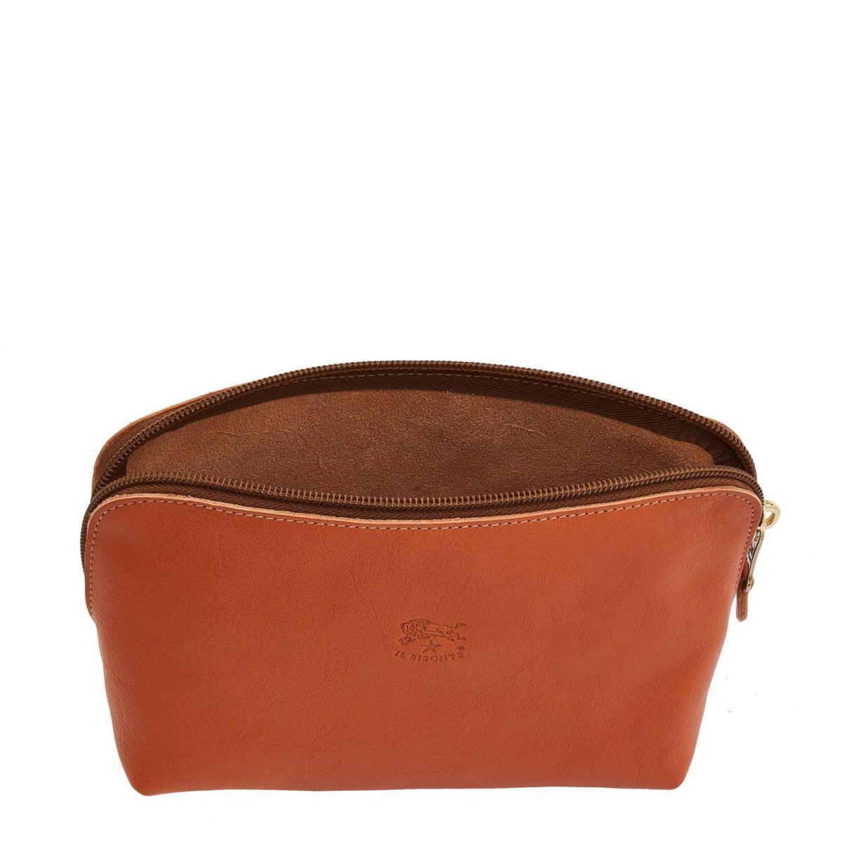 Étui pour Femme  en Cuir De Vachette Doublé SCA033 couleur Caramel | Details