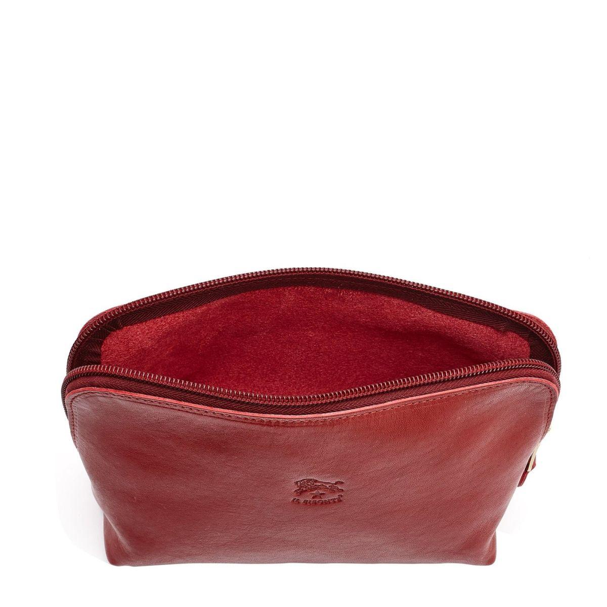 Étui pour Femme  en Cuir De Vachette Doublé SCA033 couleur Rouge | Details