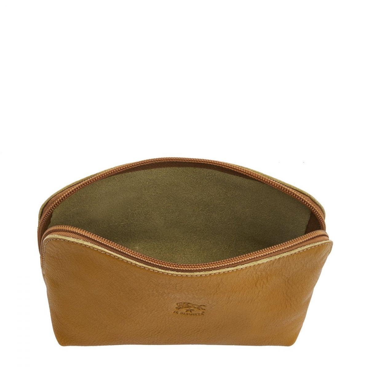 Étui pour Femme en Cuir De Vachette SCA033 couleur Curry | Details