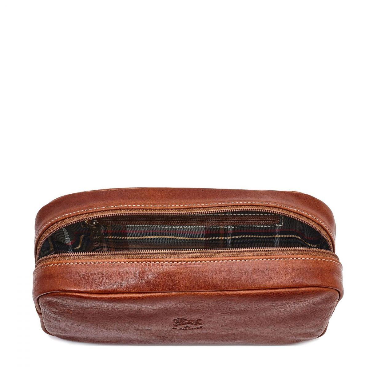 Men's Case Uffizi in Vintage Cowhide Leather SCA037 color Dark Brown Seppia | Details