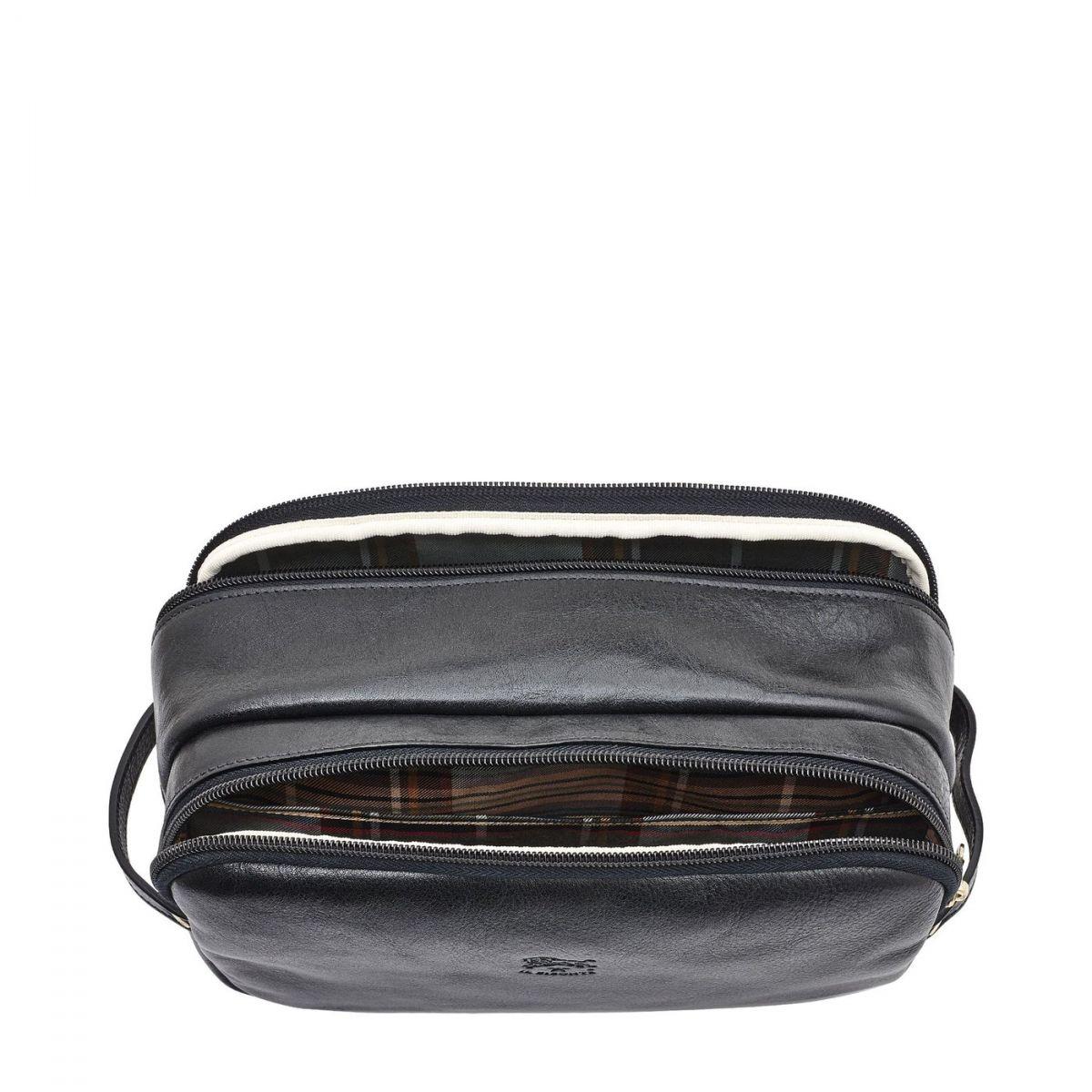 Étui pour Homme  en Cuir De Vachette Doublé SCA040 couleur Noir | Details