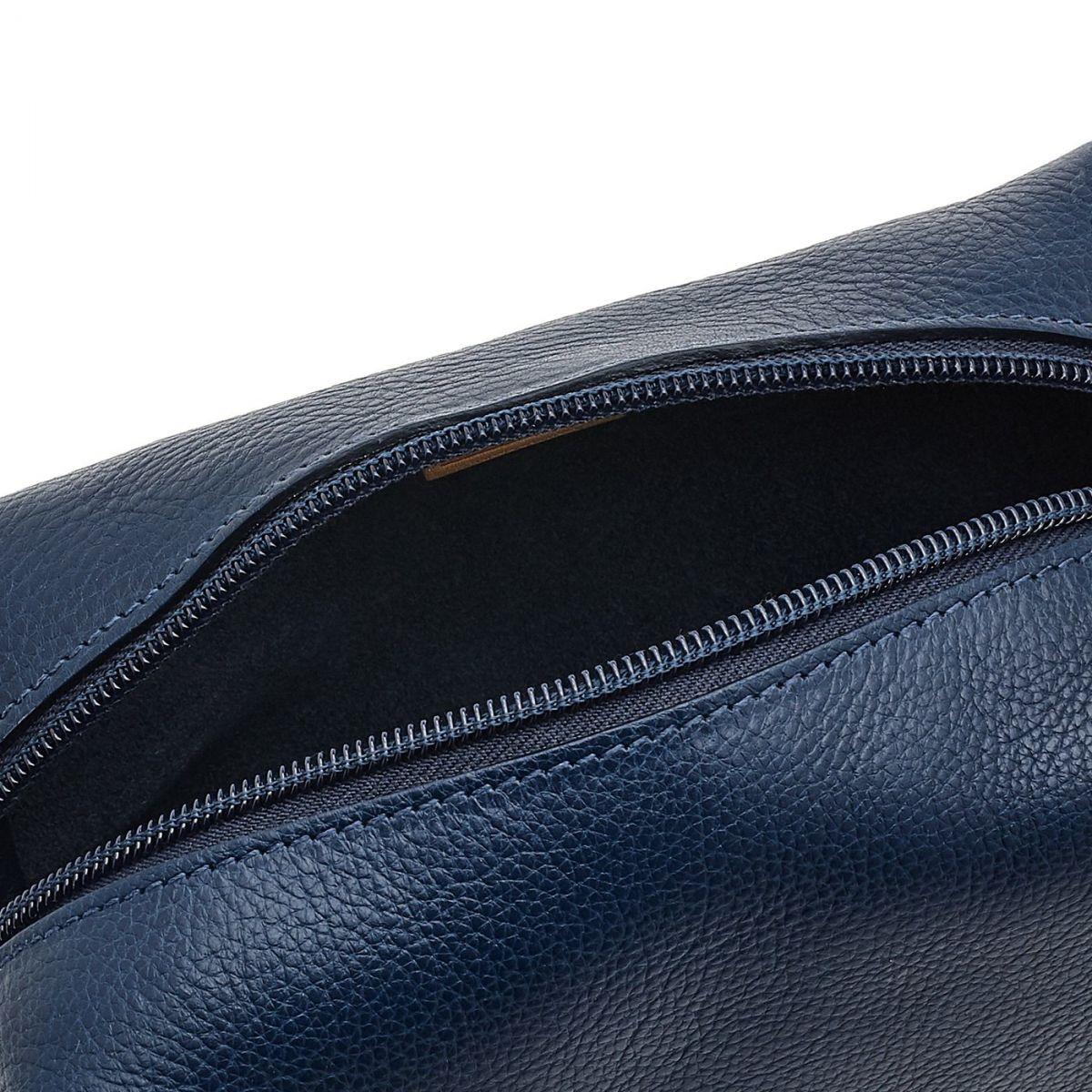 Étui  en Cuir De Vachette SCA047 couleur Bleu | Details