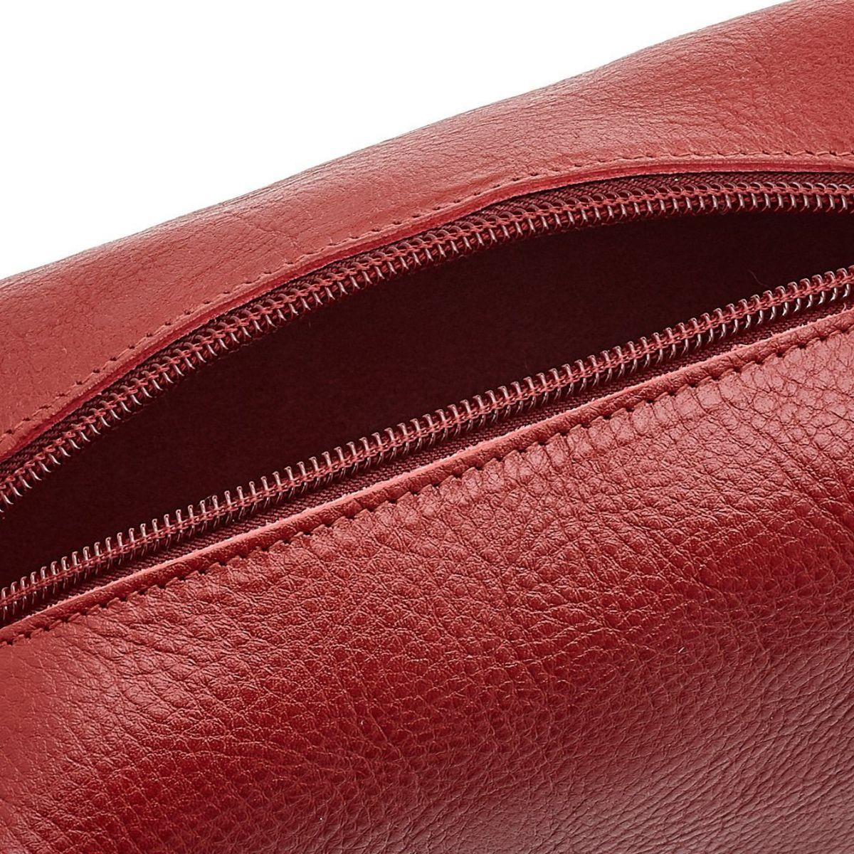 Étui  en Cuir De Vachette SCA047 couleur Rouge | Details