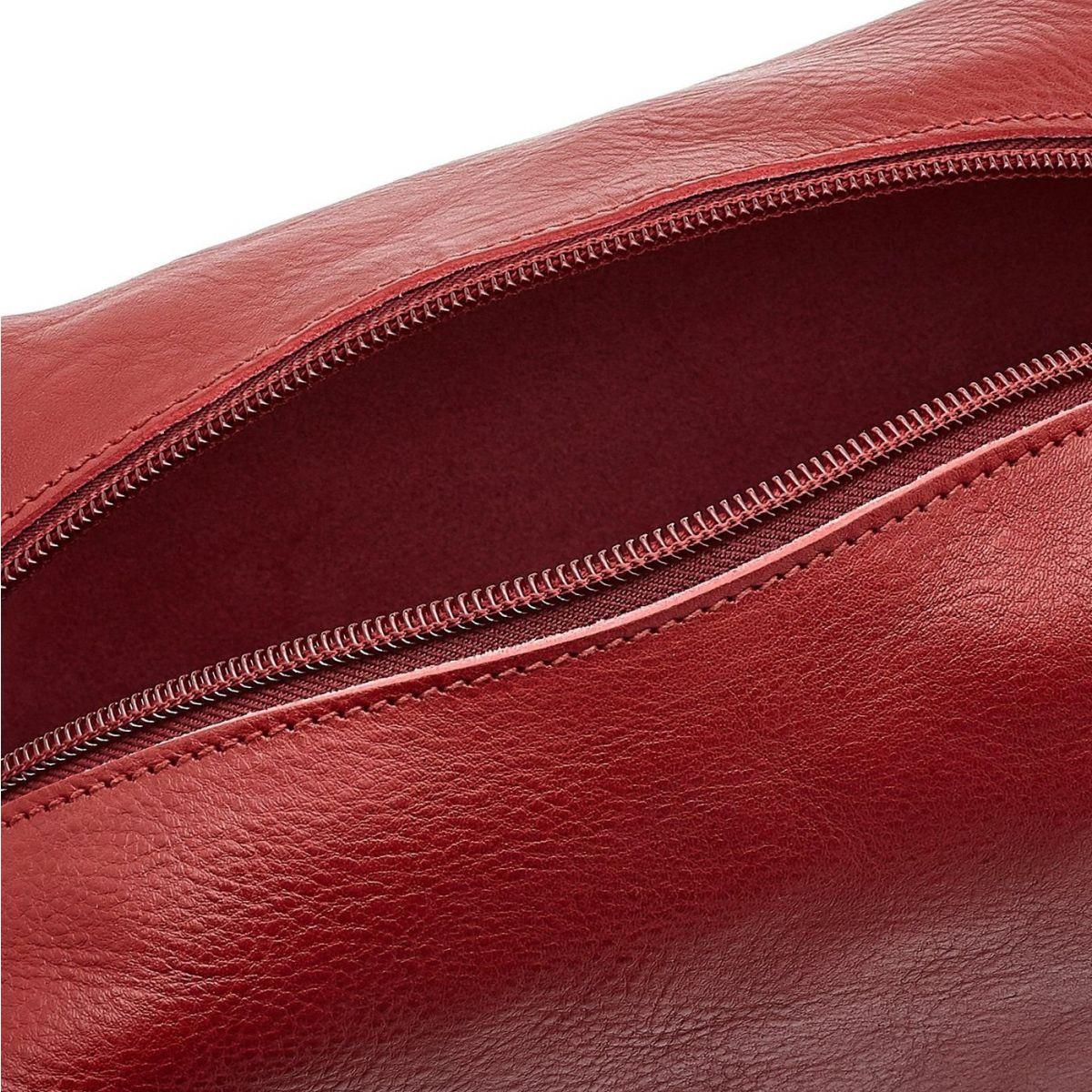 Custodia  in Pelle Di Vacchetta SCA048 colore Rosso | Details
