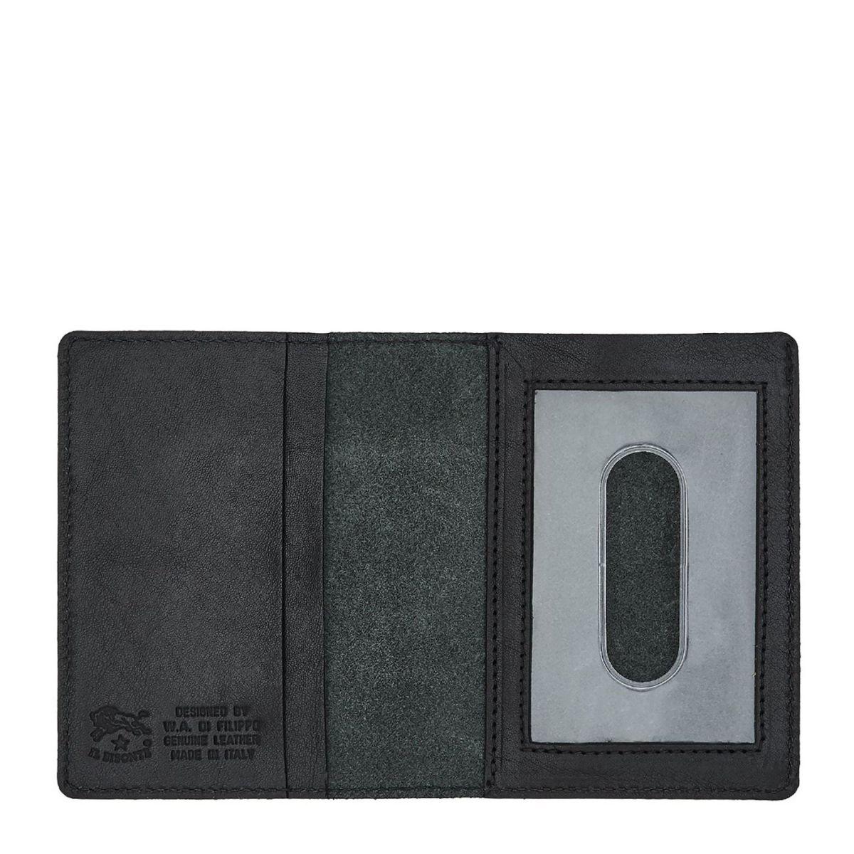 Porte-Cartes  en Cuir De Vachette Doublé SCC003 couleur Noir | Details