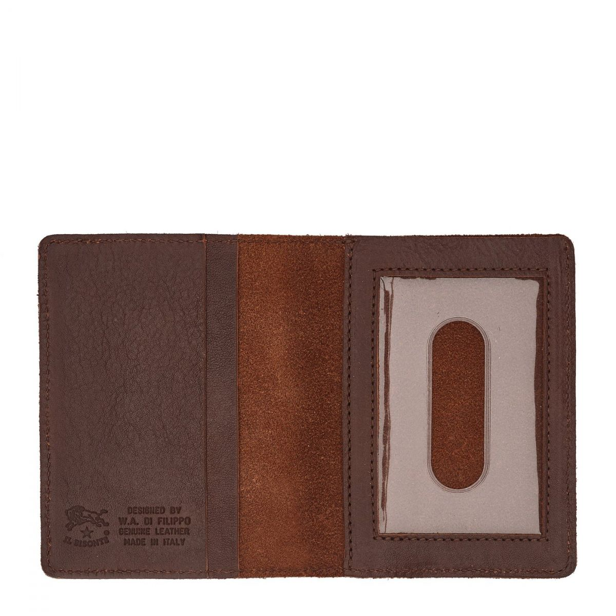 Card Case  in Cowhide Double Leather SCC003 color Brown | Details
