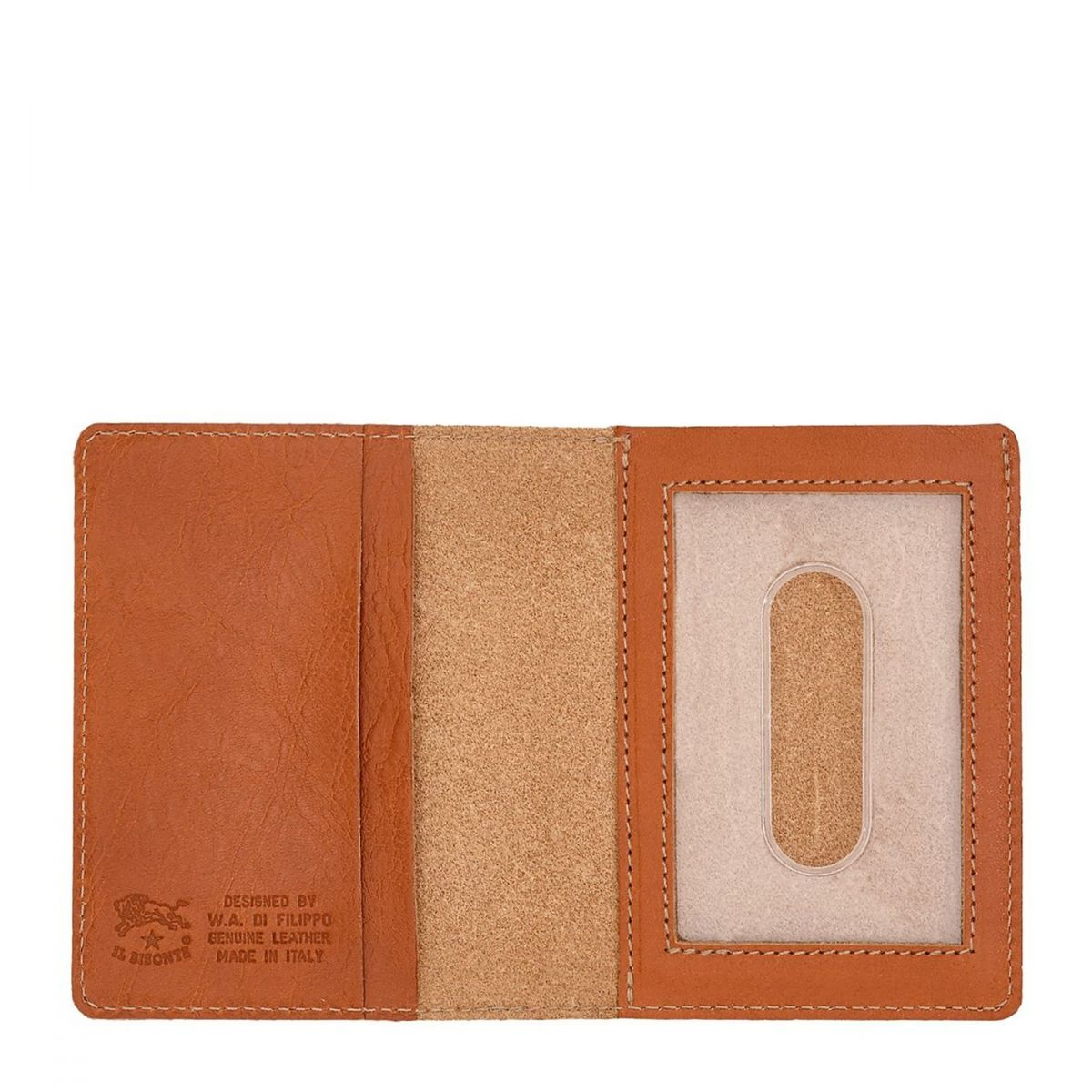 Card Case  in Cowhide Double Leather SCC003 color Caramel | Details