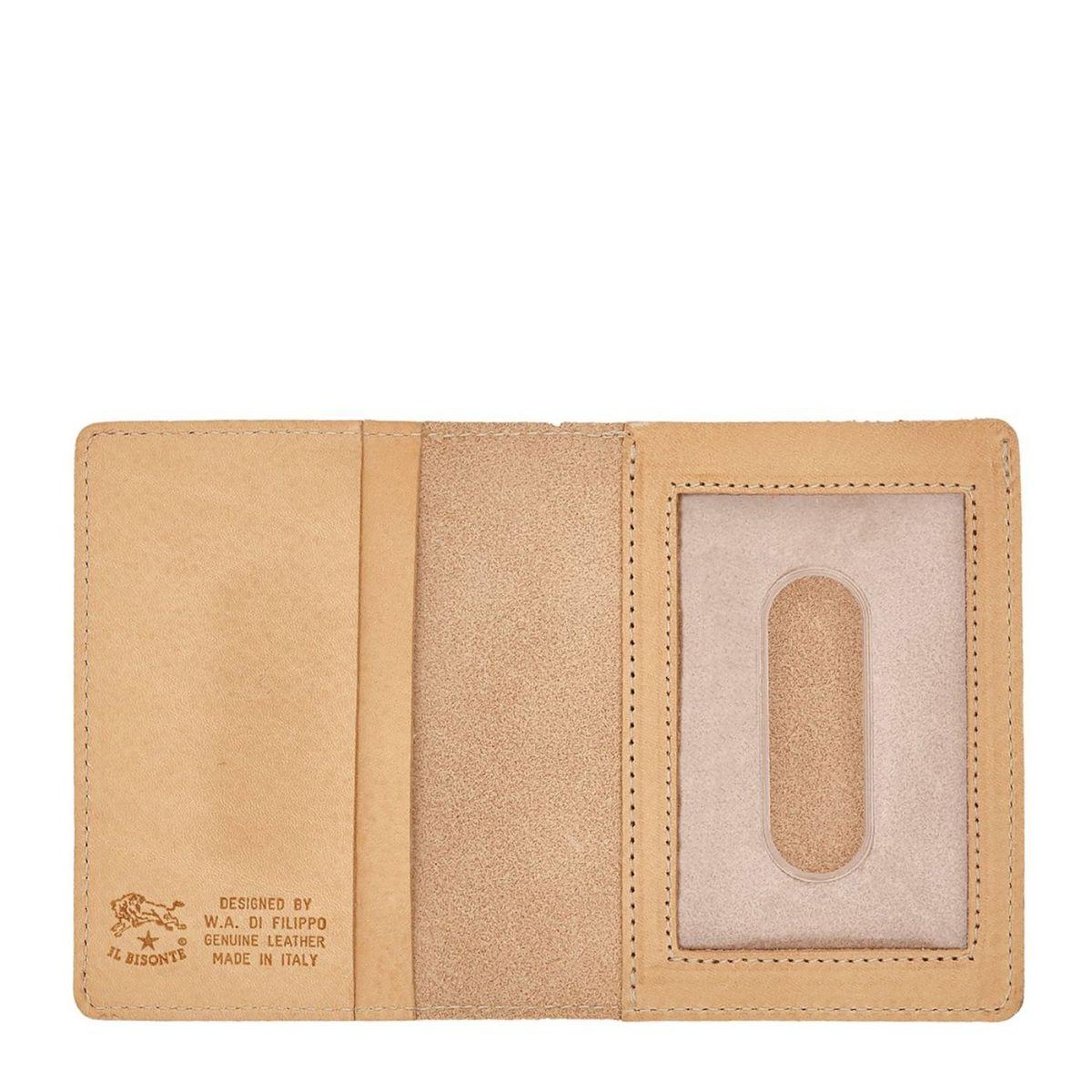 Porte-Cartes  en Cuir De Vachette Doublé SCC003 couleur Naturel | Details