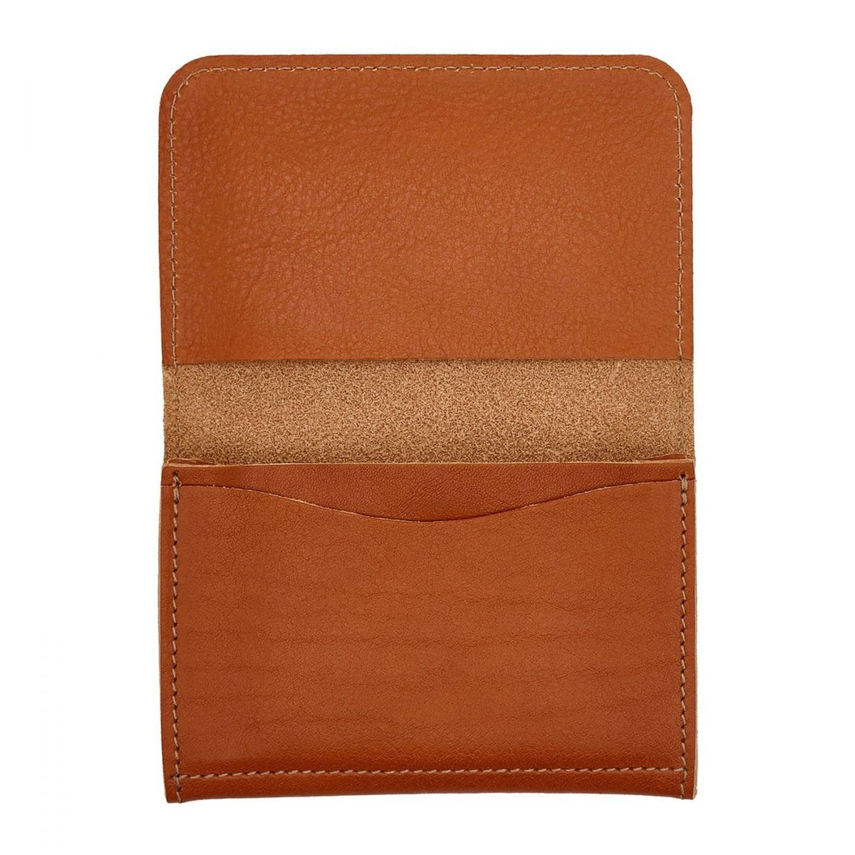 Card Case  in Cowhide Double Leather SCC004 color Caramel | Details