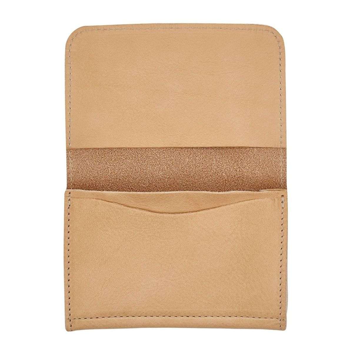 Card Case  in Cowhide Double Leather SCC004 color Natural | Details