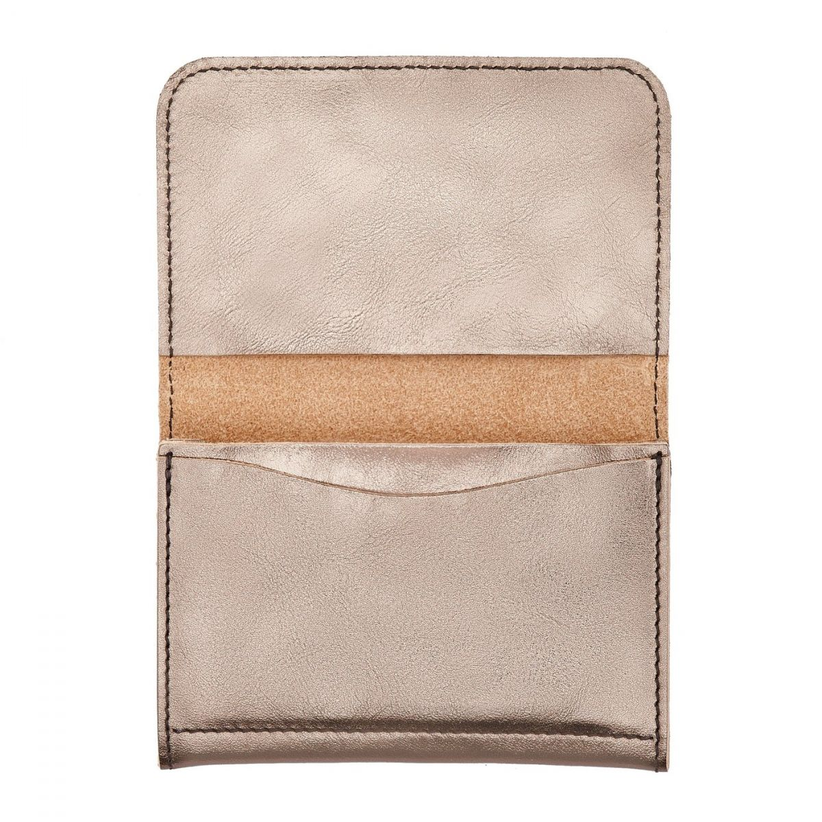 Card Case in Metallic Leather SCC004 color Metallic Bronze | Details