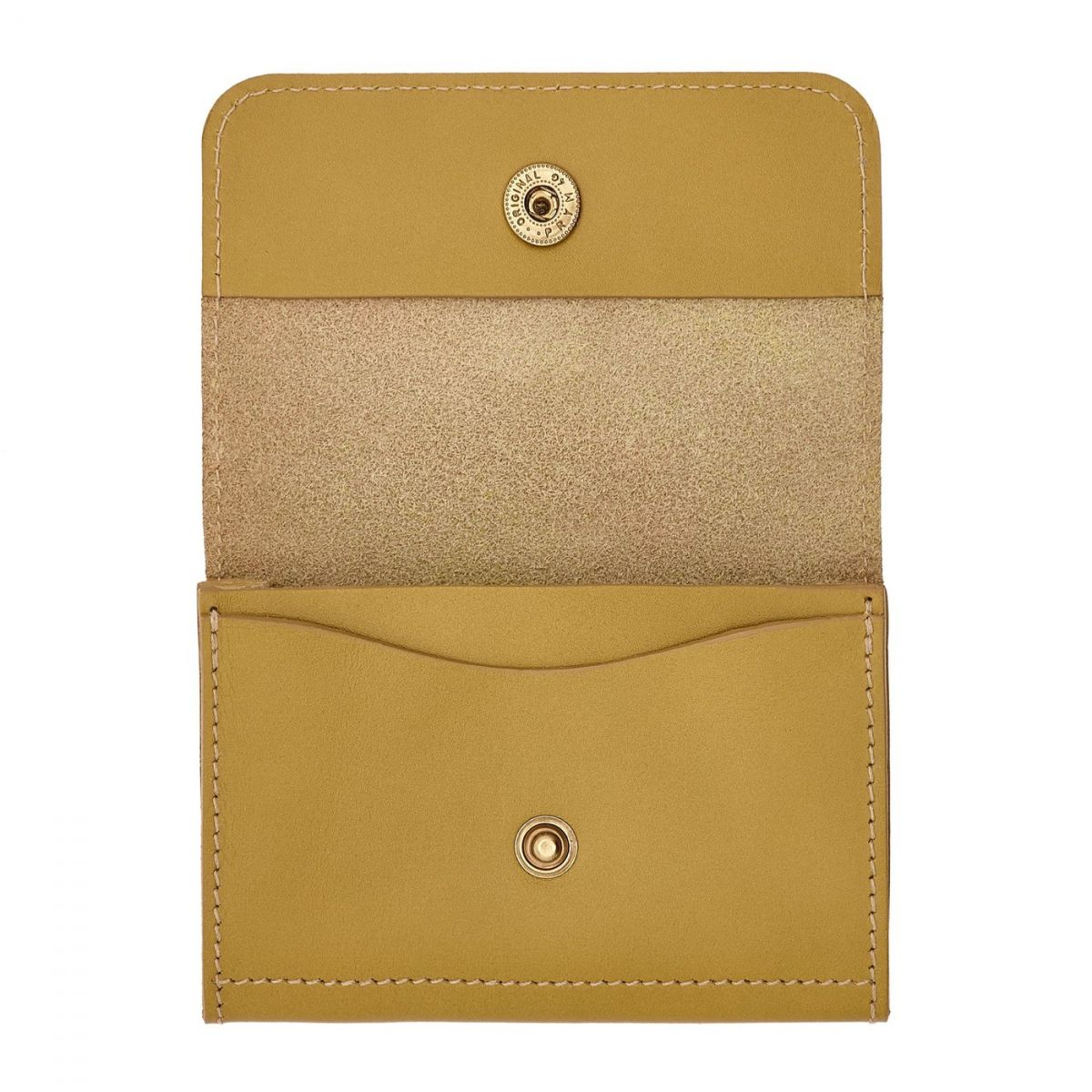 Card Case Piccolino in Cowhide Leather SCC006 color Curry | Details