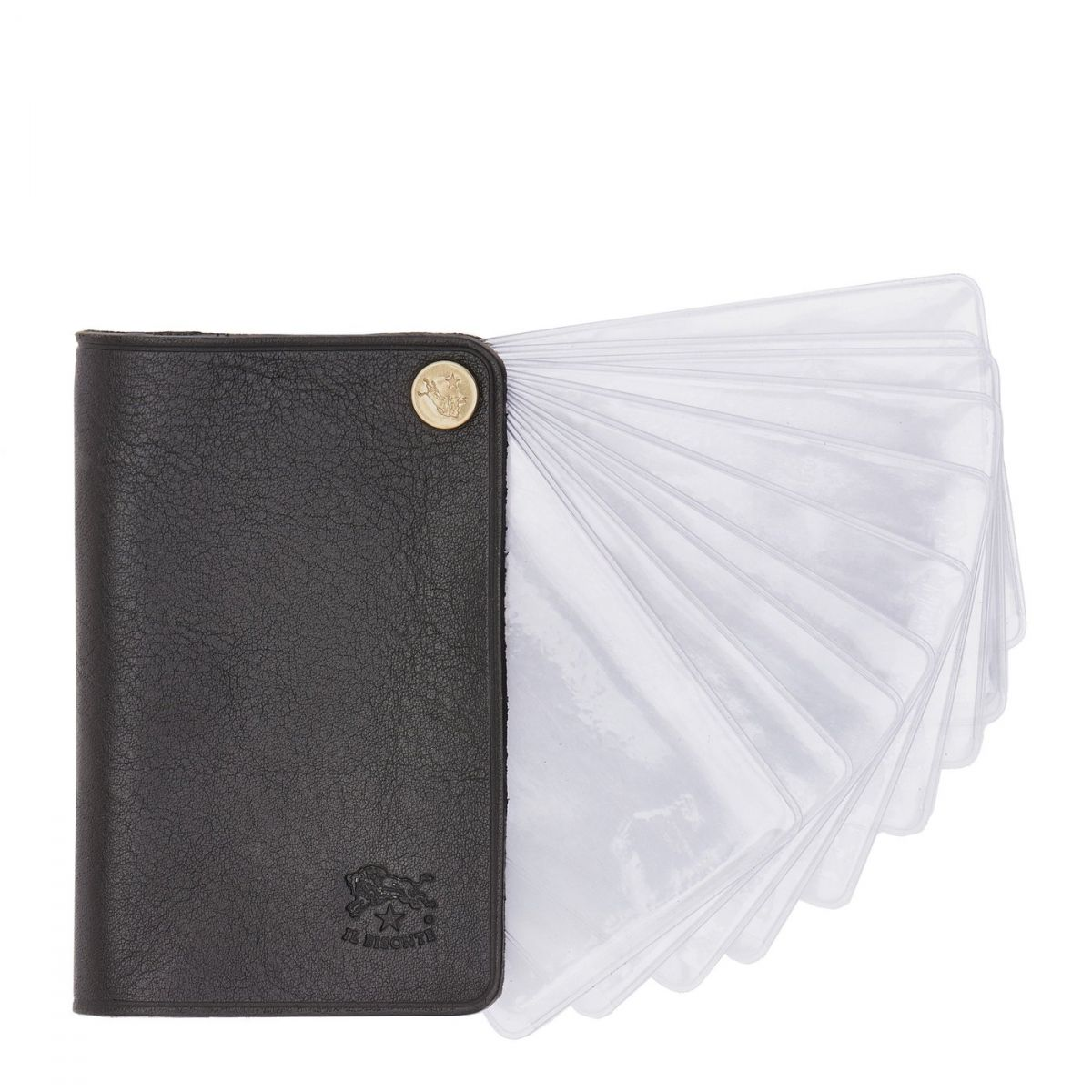 Card Case  in Cowhide Double Leather SCC014 color Black | Details