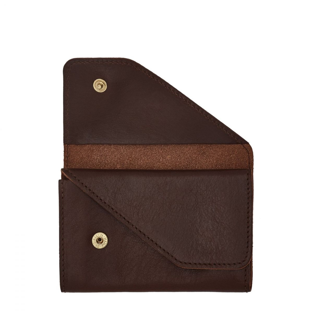 Card Case  in Cowhide Double Leather SCC015 color Brown | Details