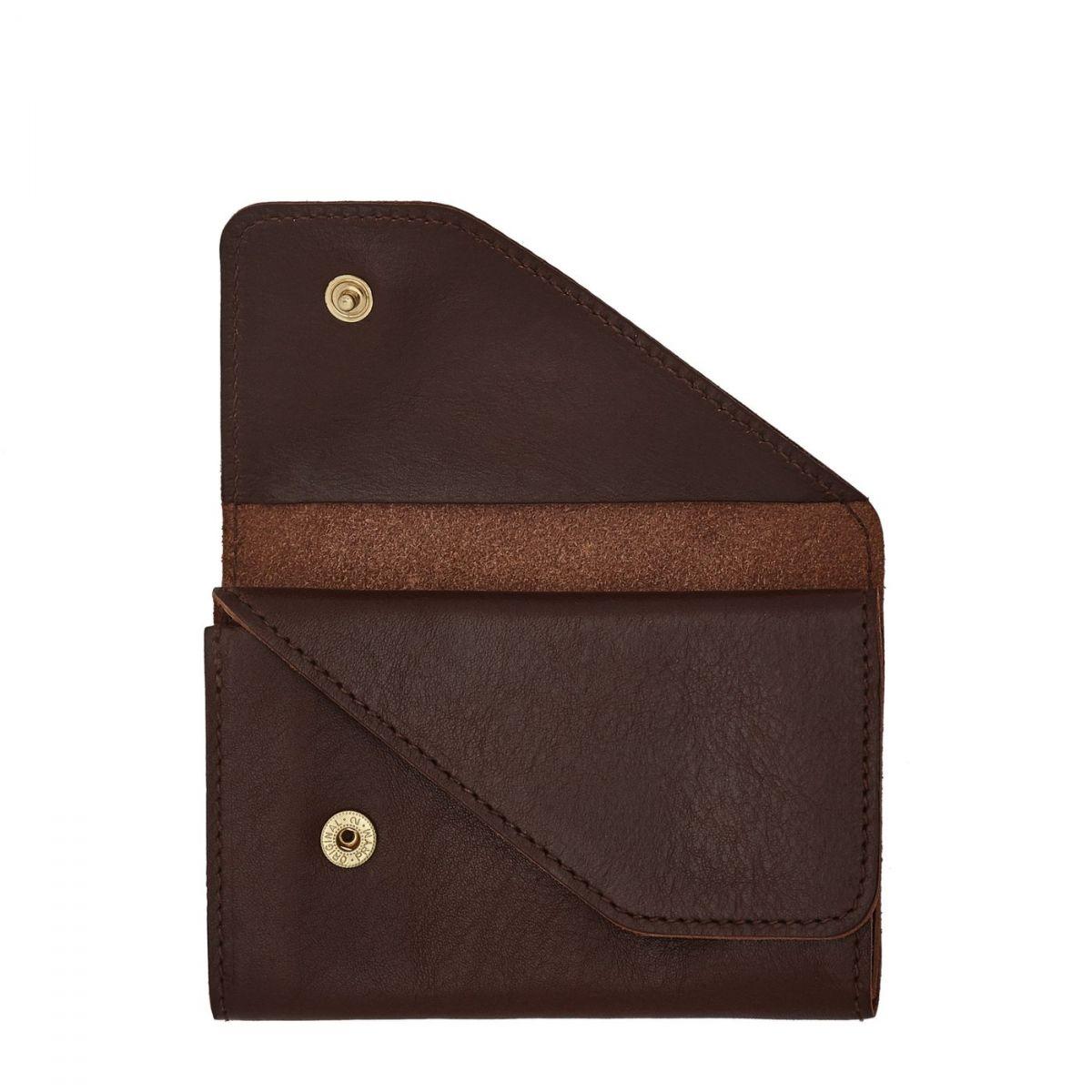 Porta Carte  in Doppia Pelle Di Vacchetta SCC015 colore Marrone | Details