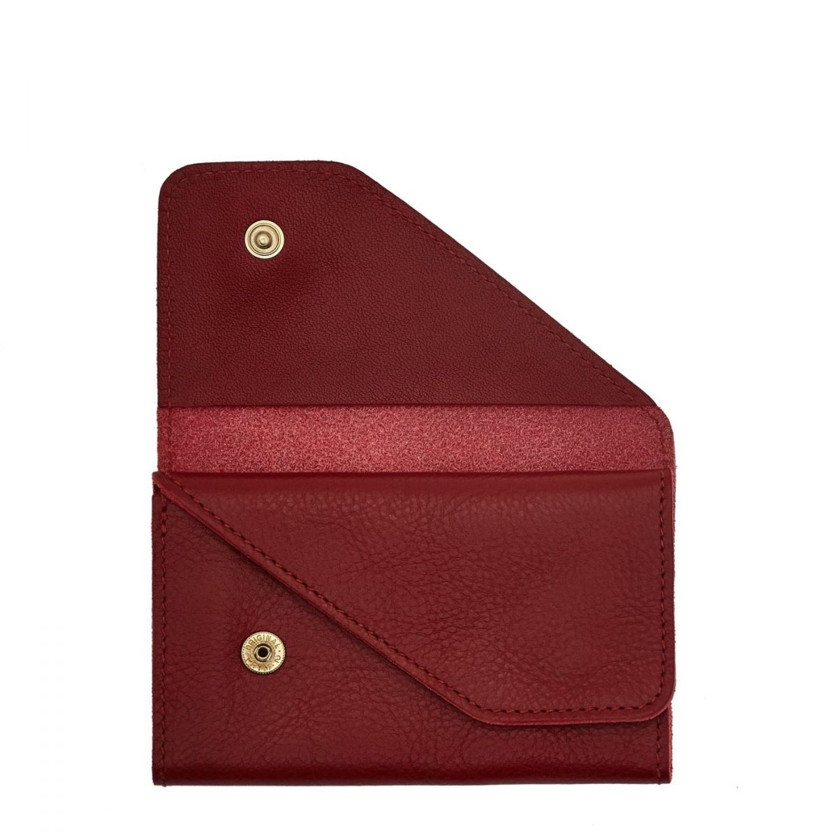 Card Case  in Cowhide Double Leather SCC015 color Red | Details