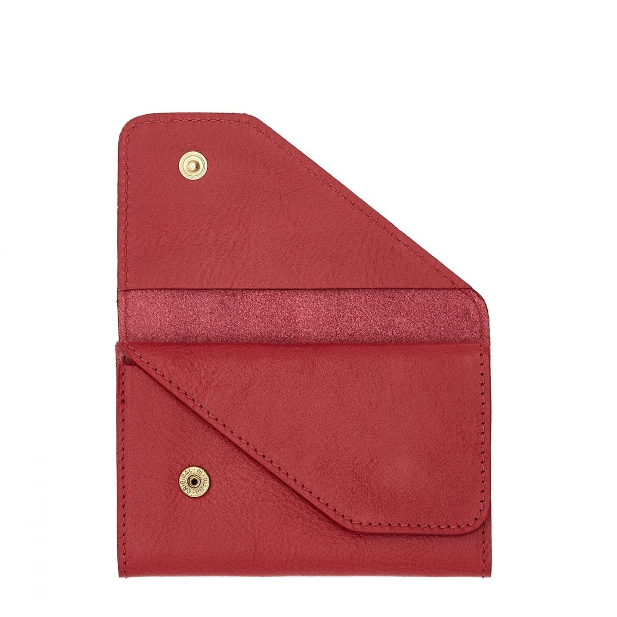 Card Case in Cowhide Leather SCC015 color Sumac | Details