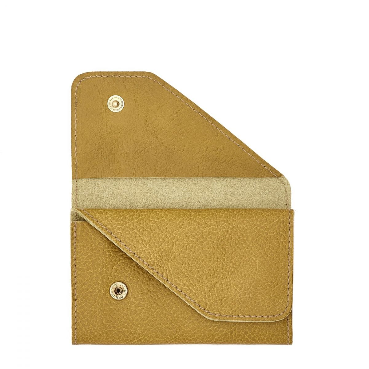 Card Case in Cowhide Leather SCC015 color Curry | Details