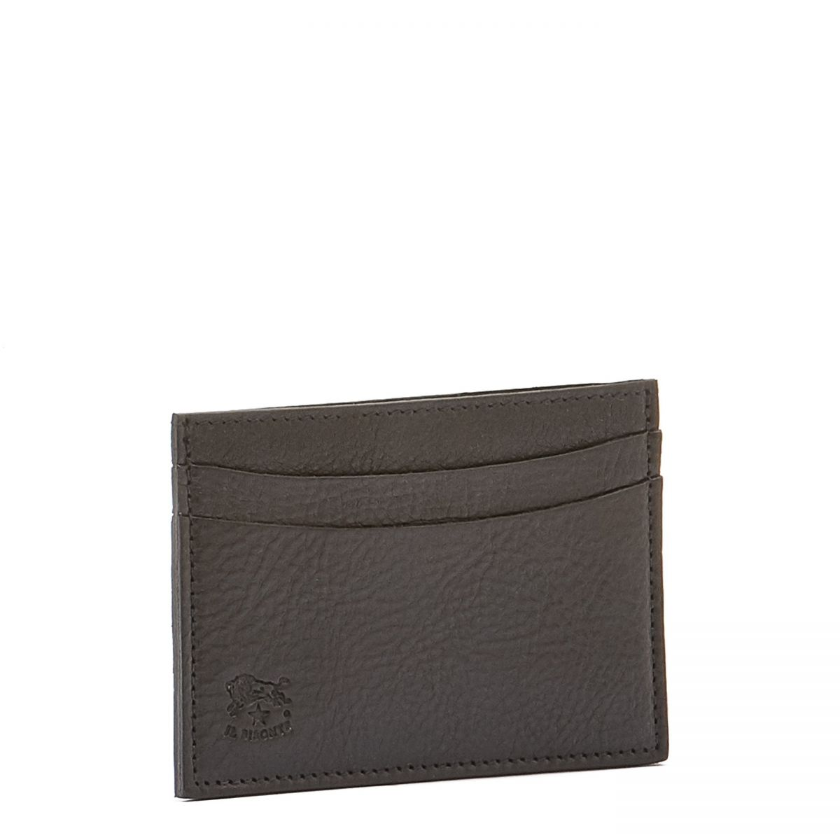 Card Case  in Cowhide Double Leather SCC019 color Black | Details