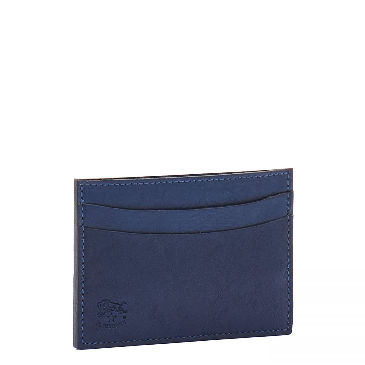 Card Case  in Cowhide Double Leather SCC019 color Blue | Details