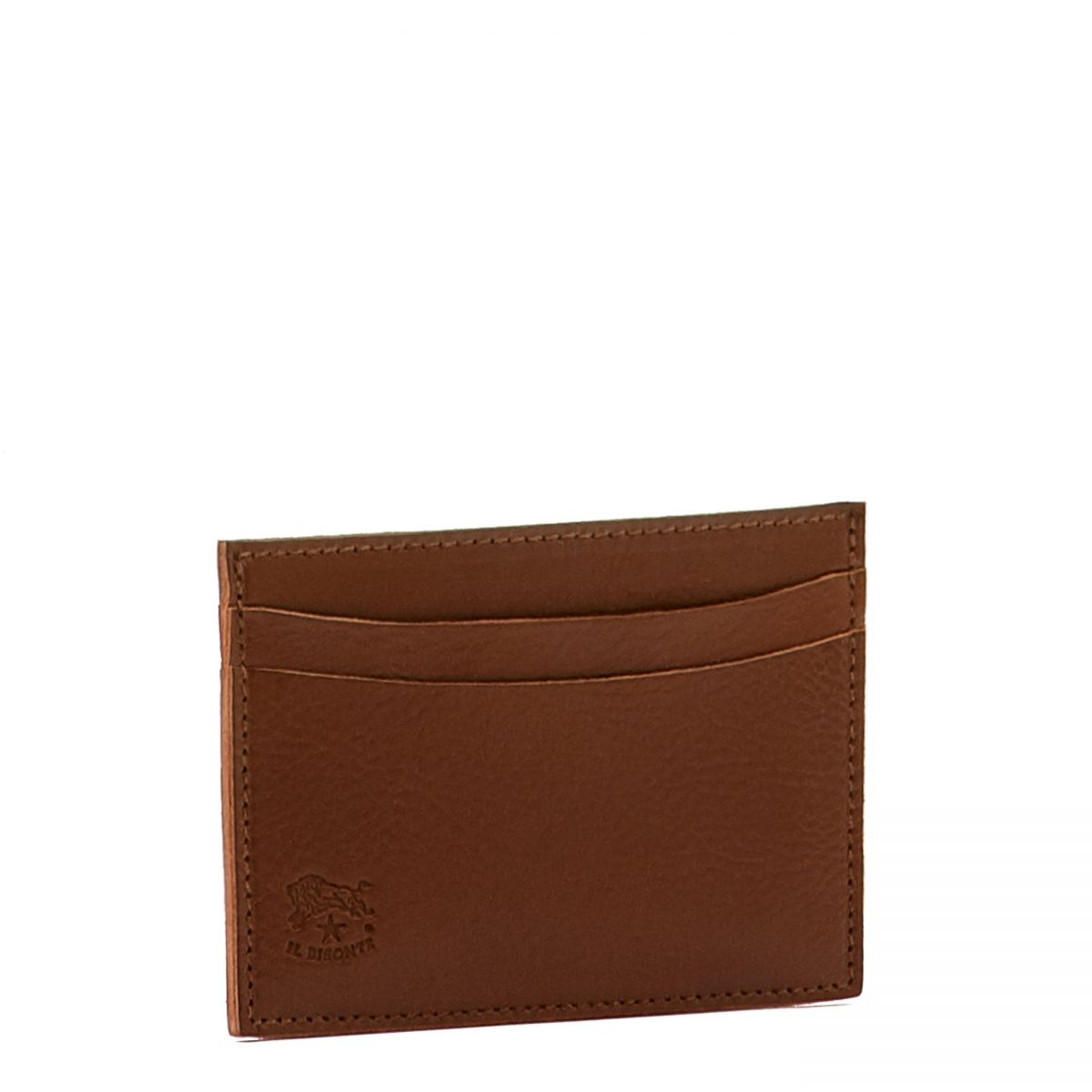 Card Case  in Cowhide Double Leather SCC019 color Brown | Details