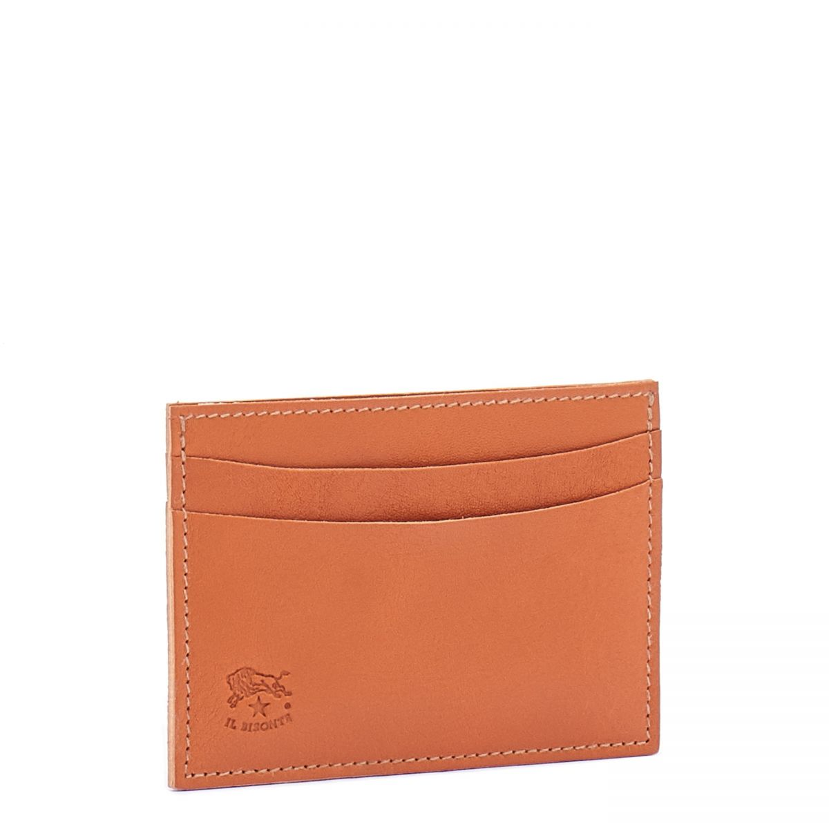 Card Case  in Cowhide Double Leather SCC019 color Caramel | Details