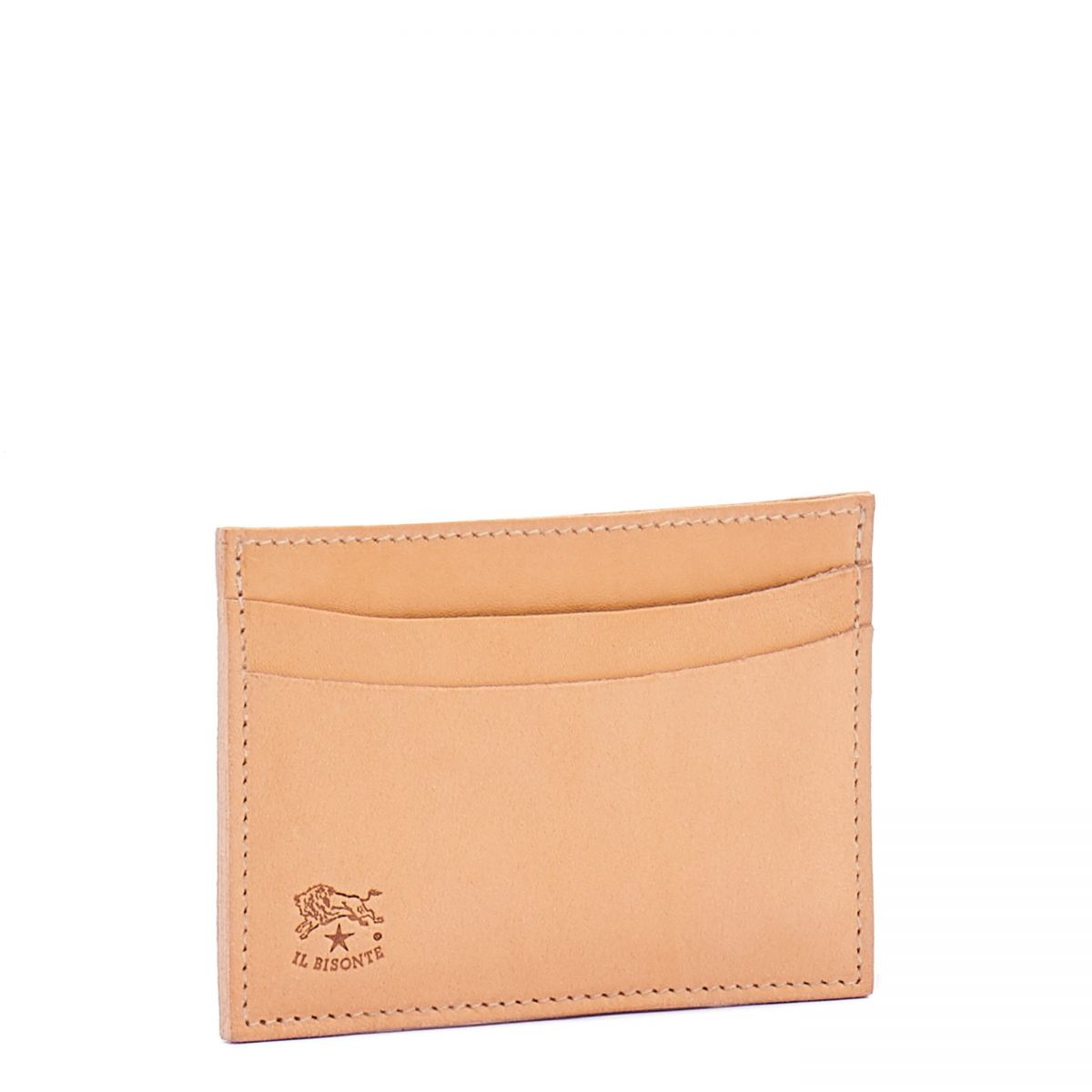 Card Case  in Cowhide Double Leather SCC019 color Natural | Details