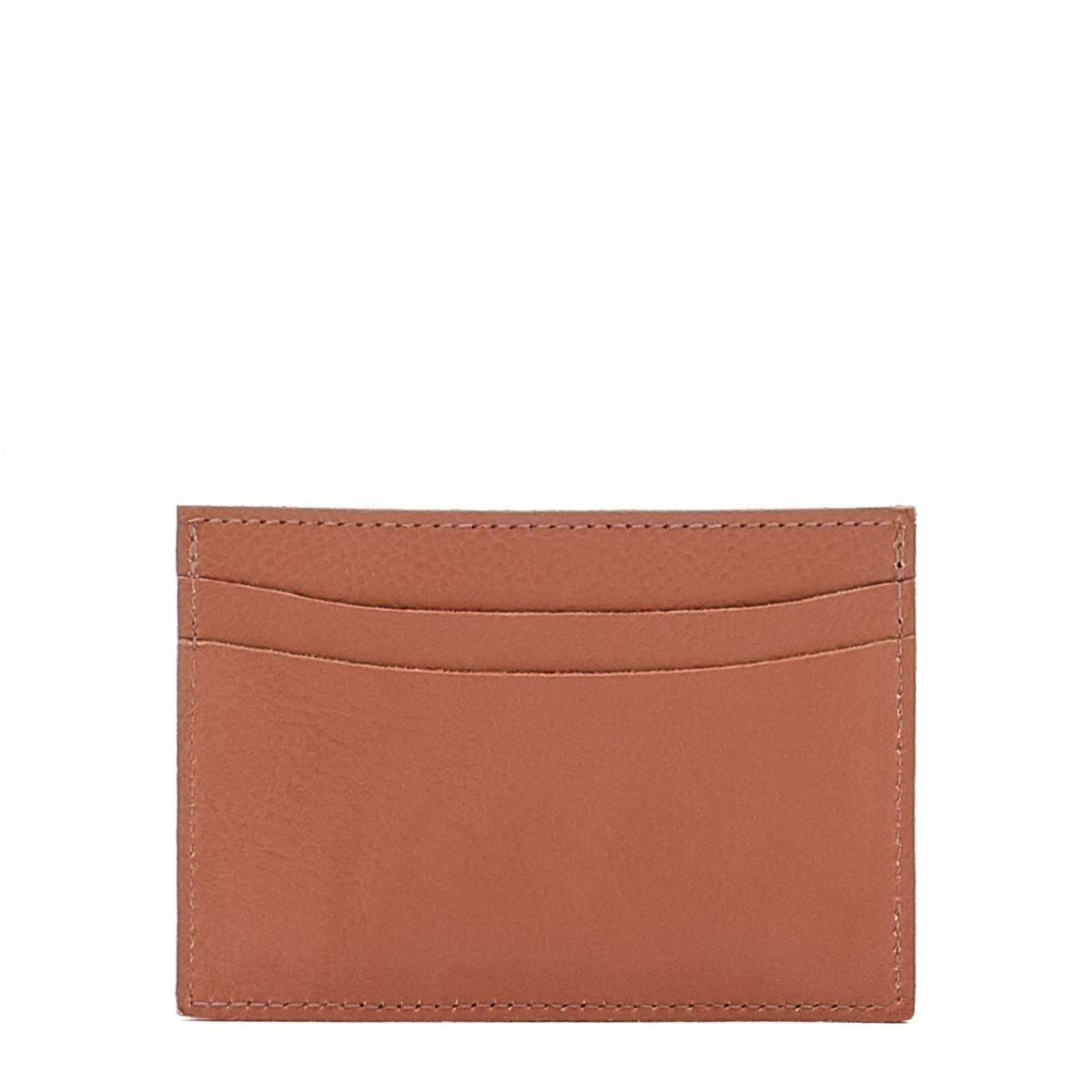 Card Case in Cowhide Leather SCC019 color Pink Pepper | Details