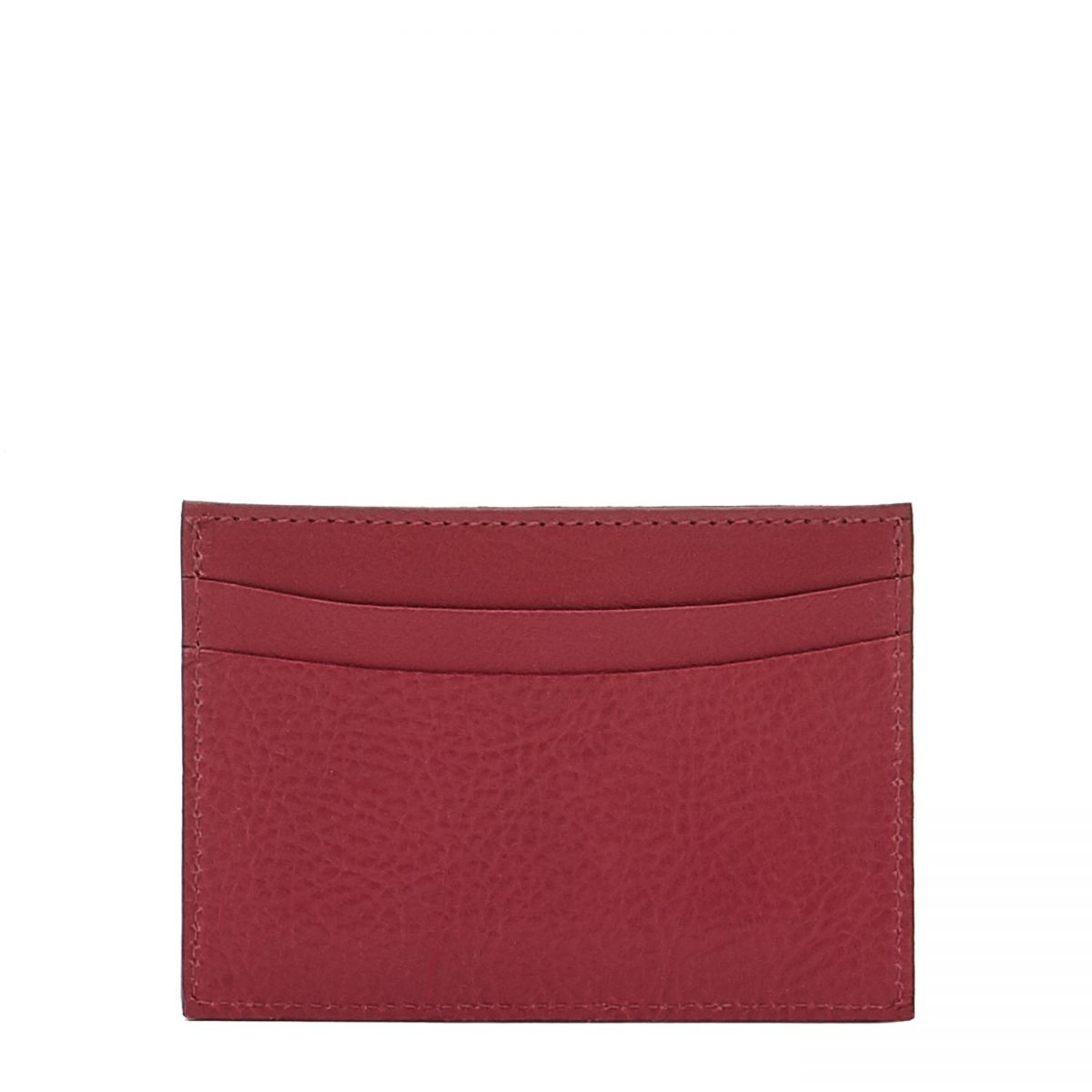 Card Case in Cowhide Leather SCC019 color Sumac | Details