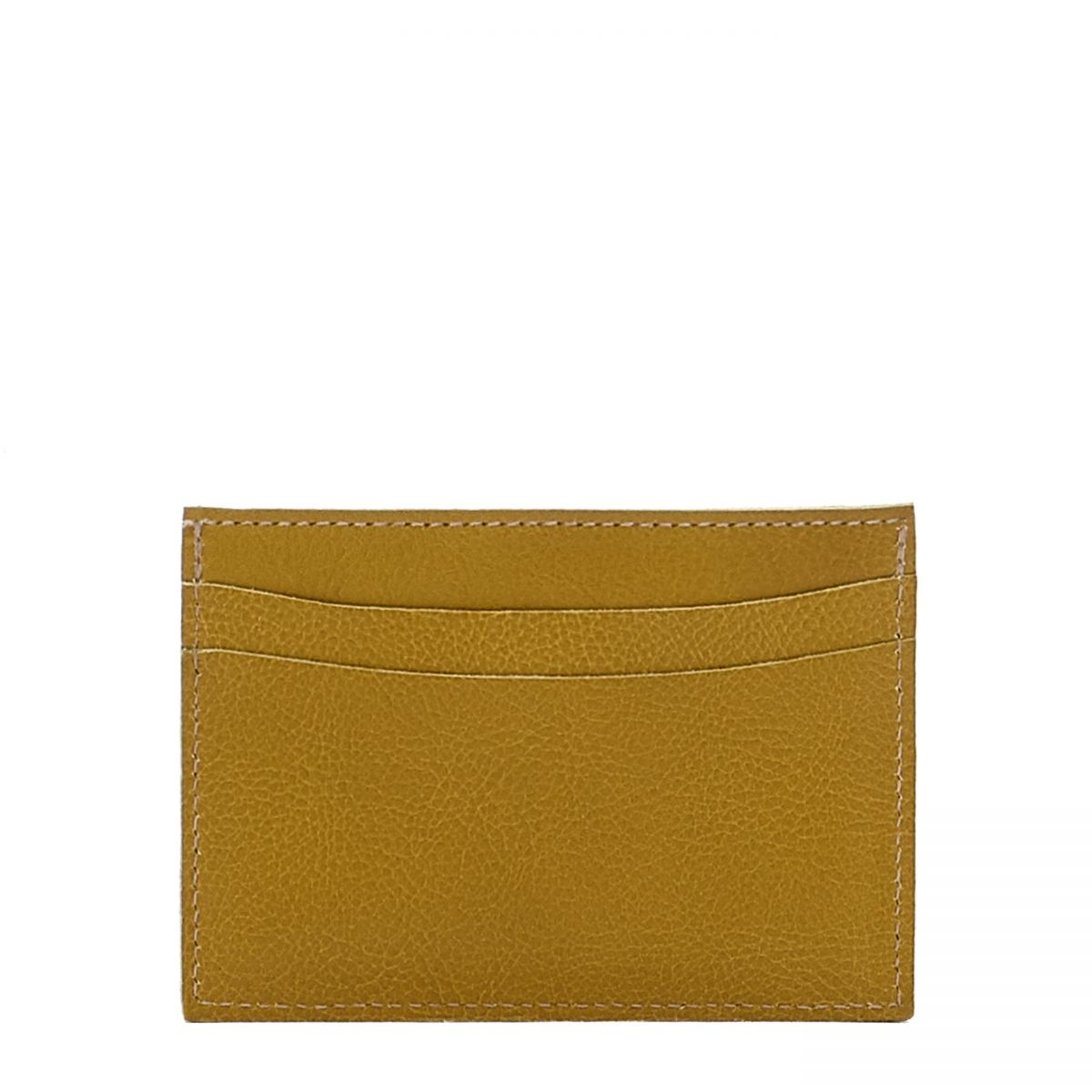 Card Case in Cowhide Leather SCC019 color Curry | Details