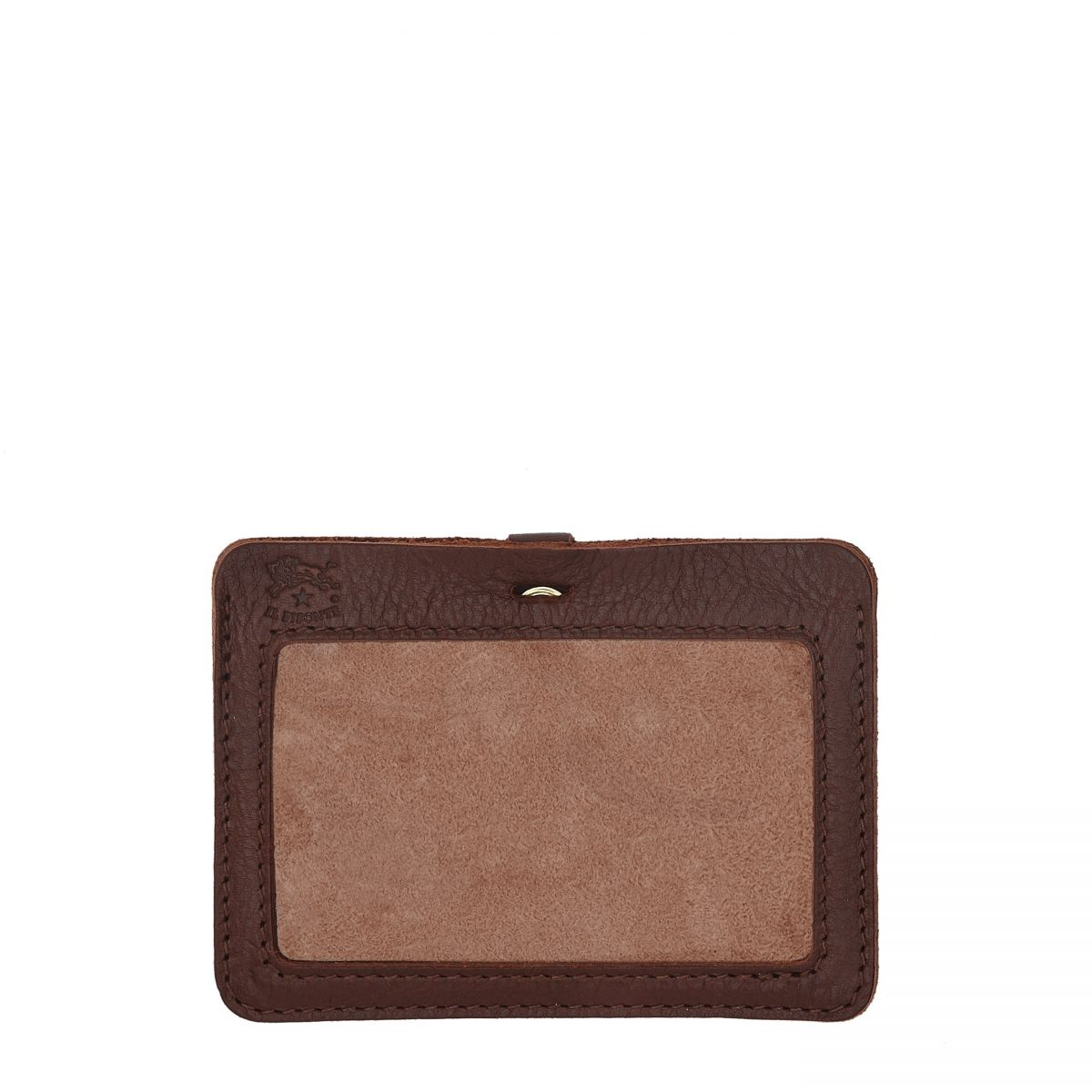 Card Case  in Cowhide Double Leather SCC026 color Brown | Details
