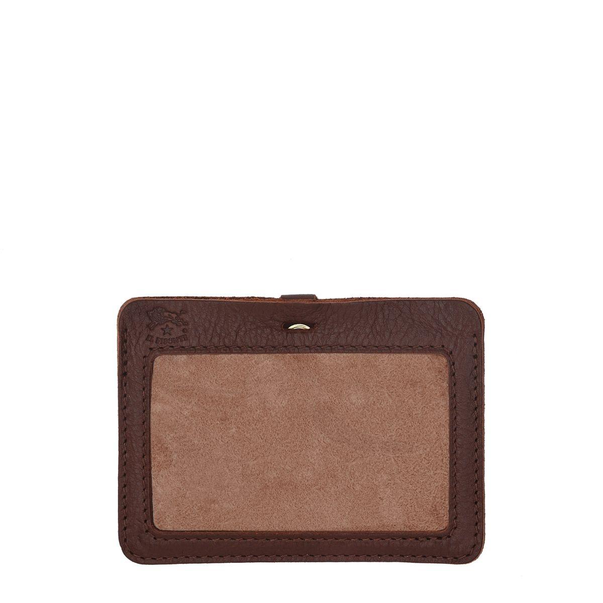 Porta Carte  in Doppia Pelle Di Vacchetta SCC026 colore Marrone | Details