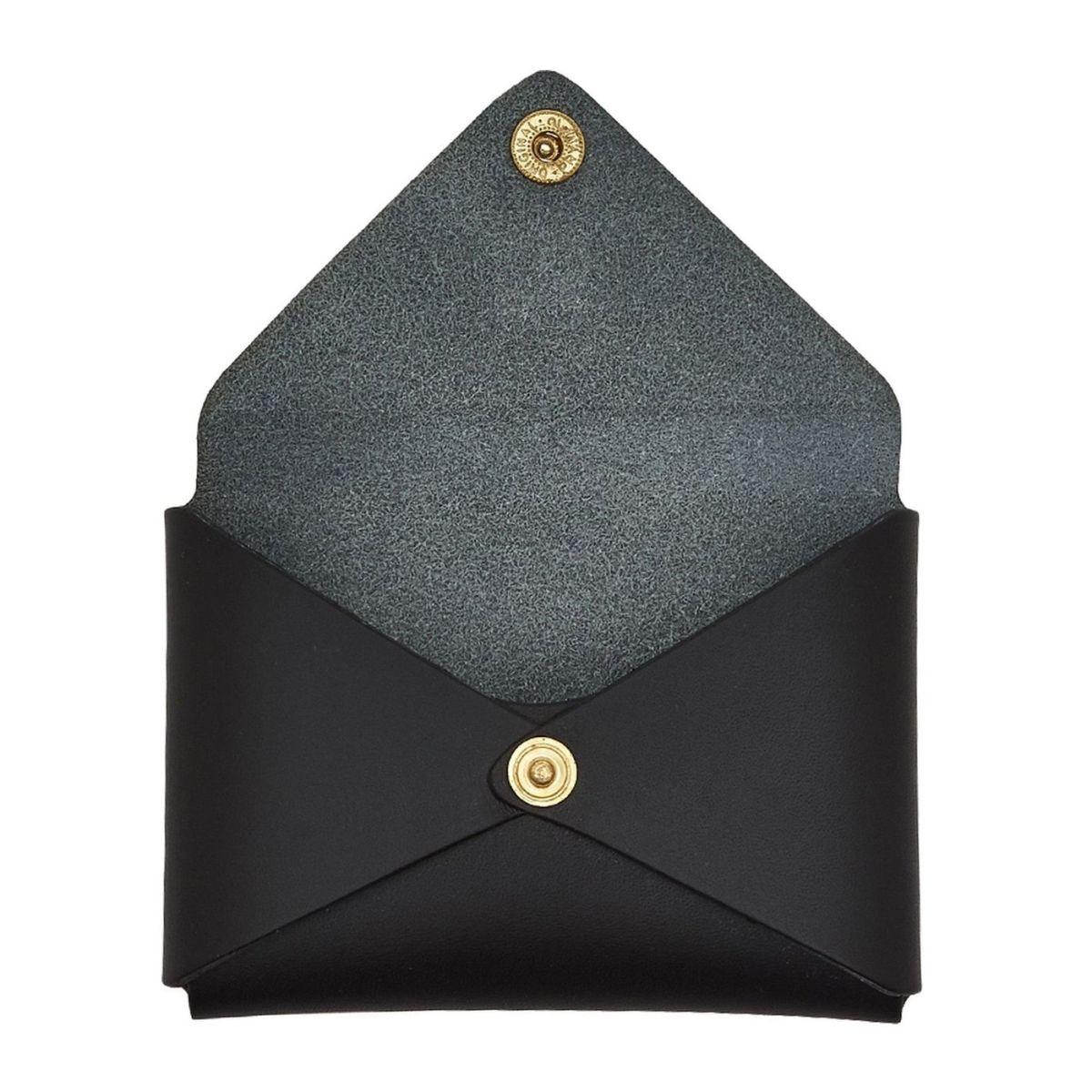 Sovana - Porte-Cartes pour Femme  en Cuir De Vachette Doublé SCC031 couleur Noir | Details