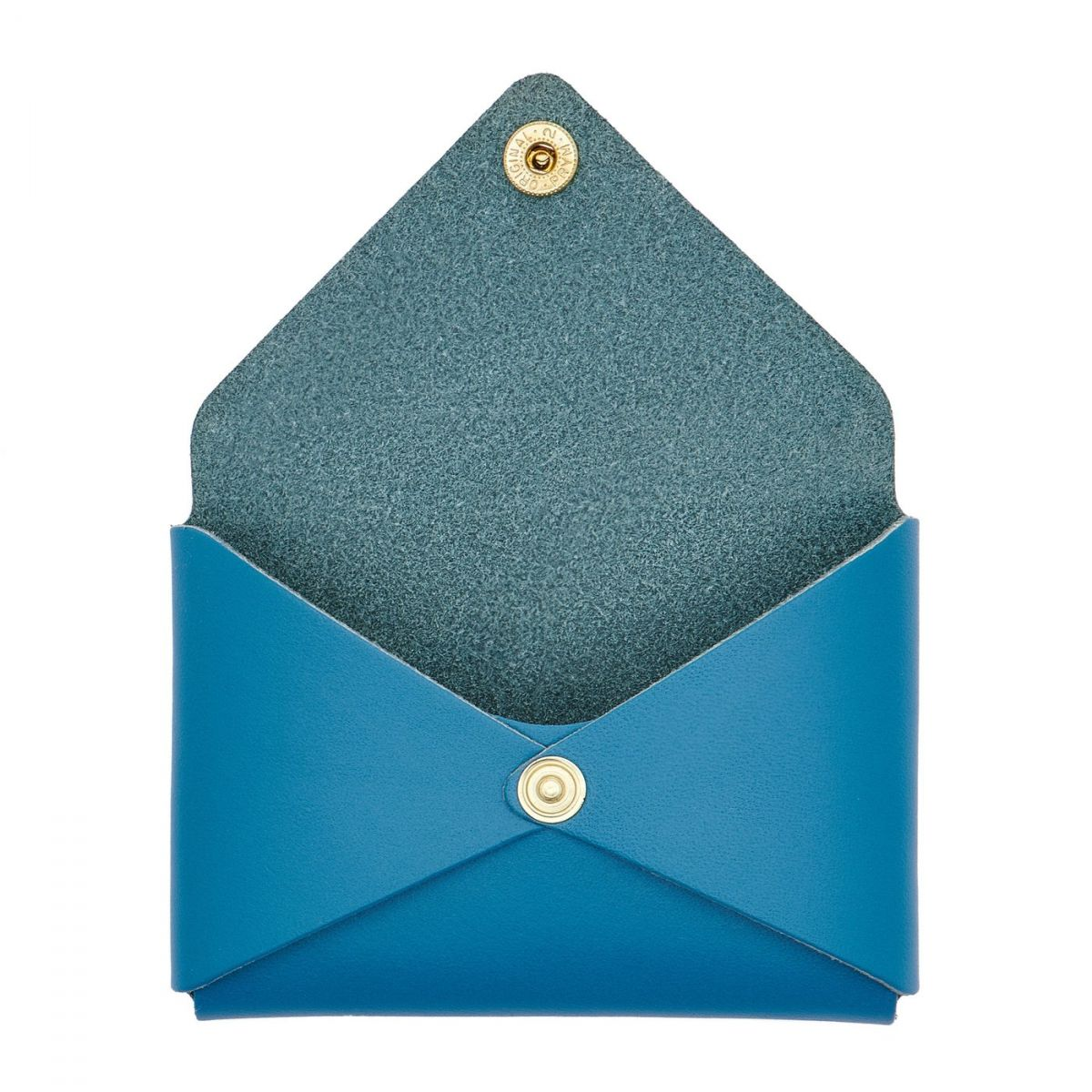 Sovana - Women's Card Case in Cowhide Double Leather color Blue Teal - SCC031 | Details