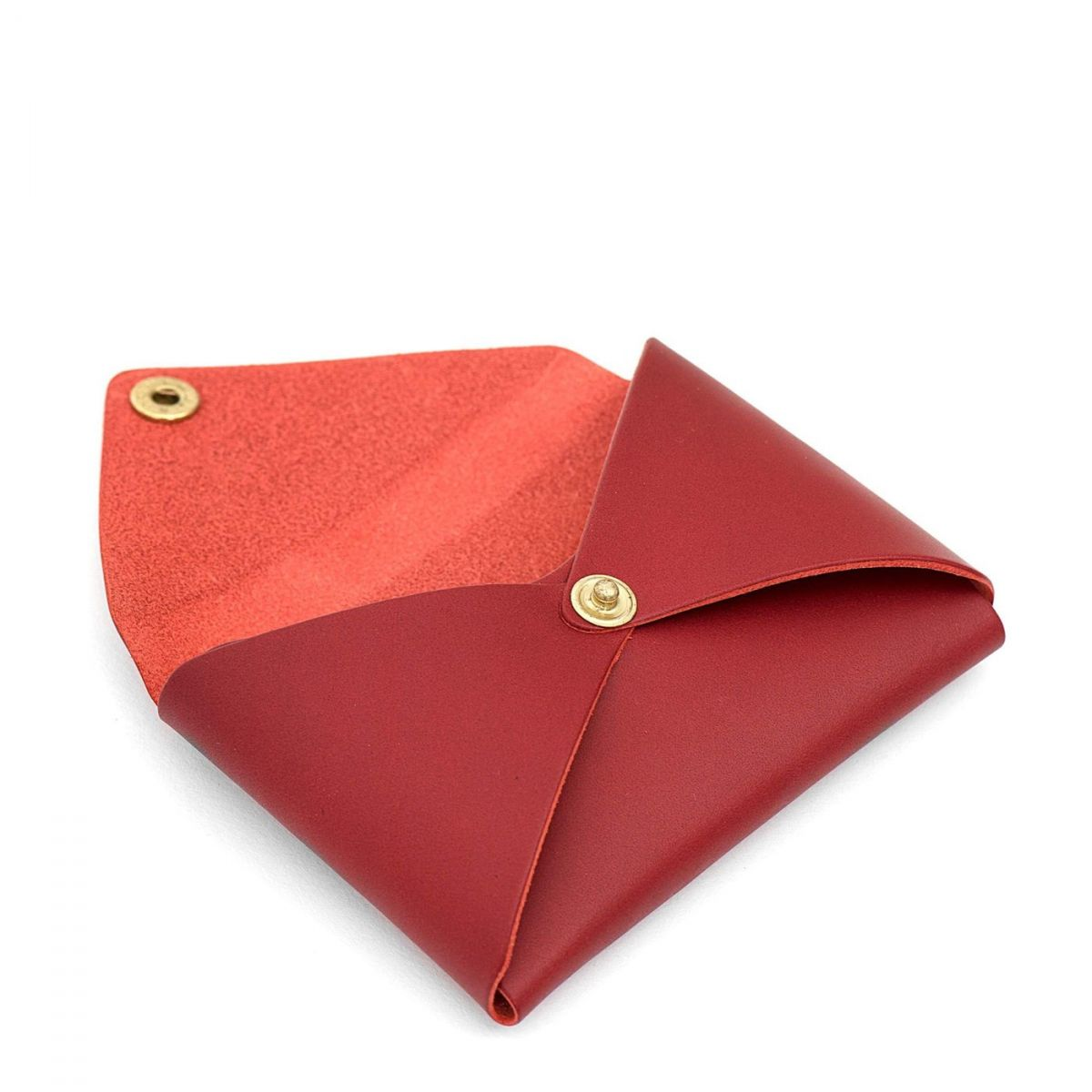 Women's Card Case  in Cowhide Double Leather SCC031 color Red Rubino | Details