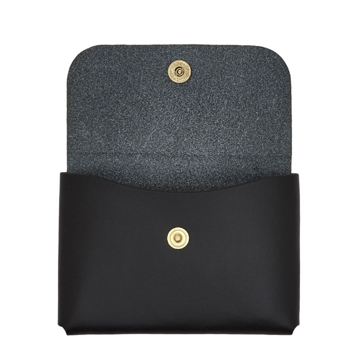 Card Case  in Cowhide Double Leather SCC032 color Black | Details