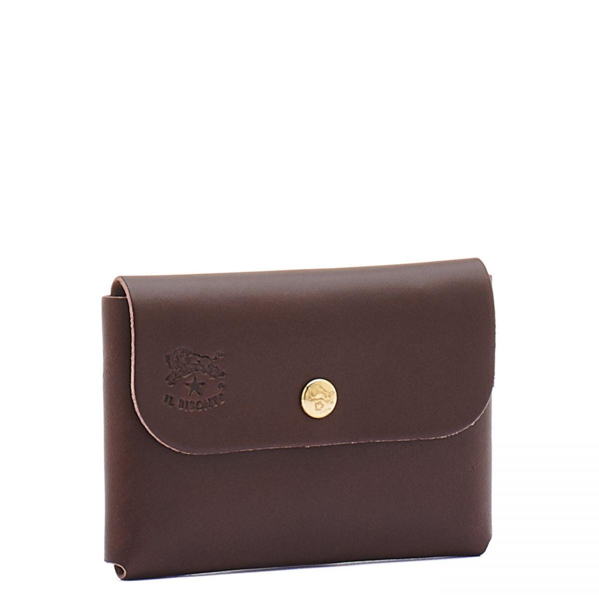 Porta Carte  in Doppia Pelle Di Vacchetta SCC032 colore Testa Di Moro | Details