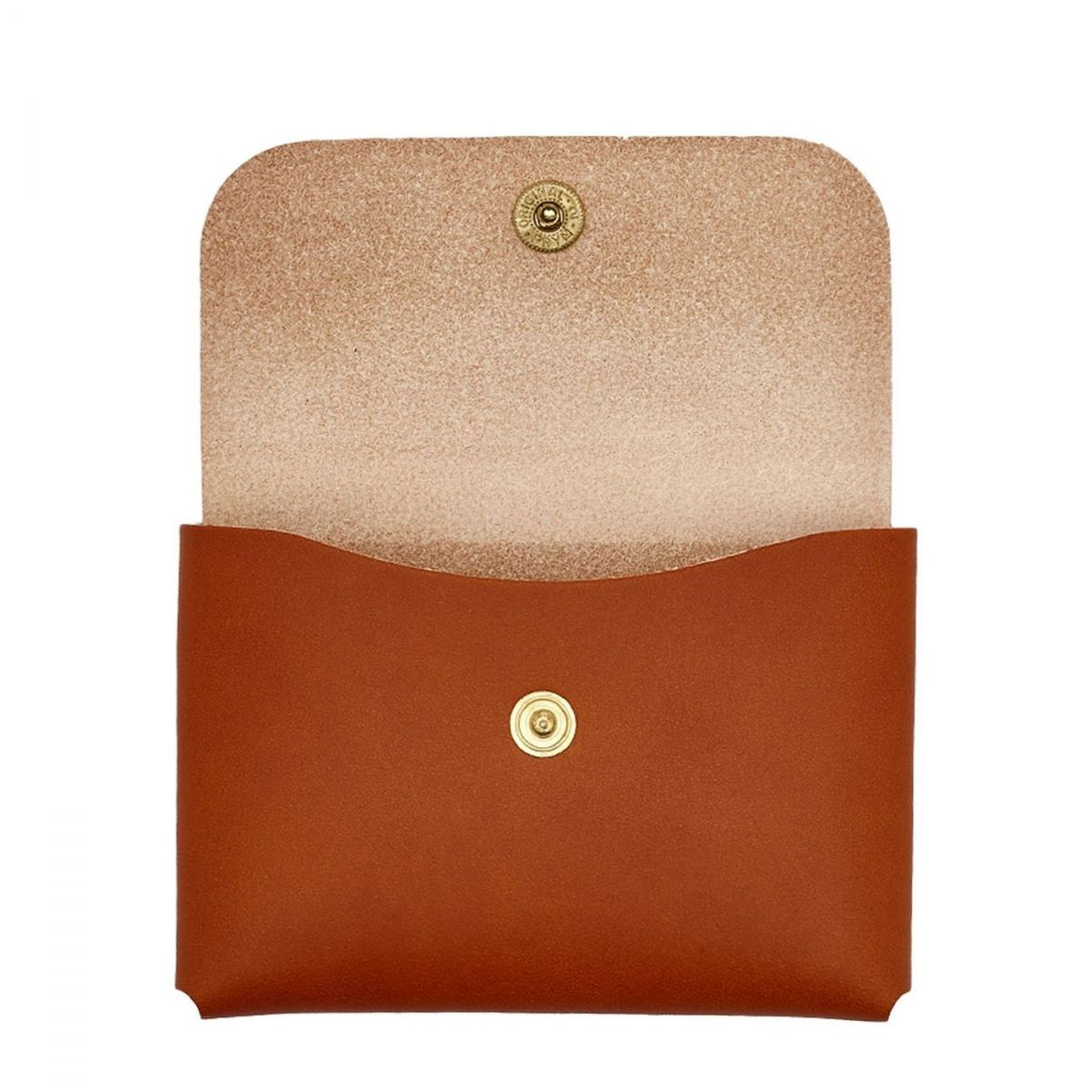 Card Case  in Cowhide Double Leather SCC032 color Caramel | Details