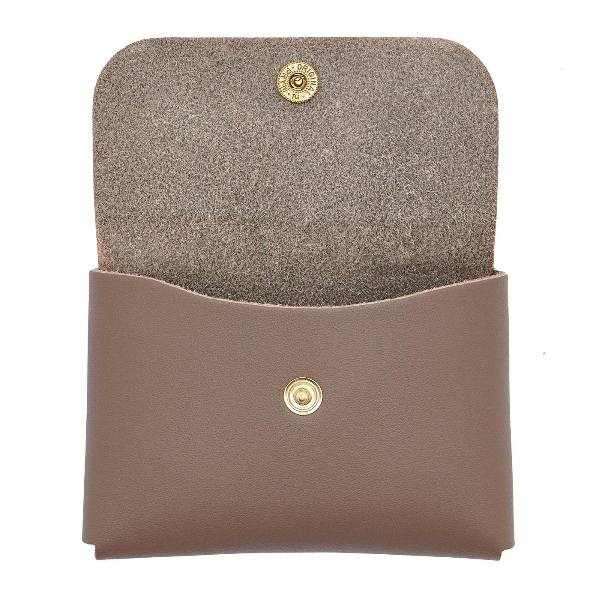 Porte-Cartes en Cuir De Vachette Doublé couleur Gris - SCC032 | Details