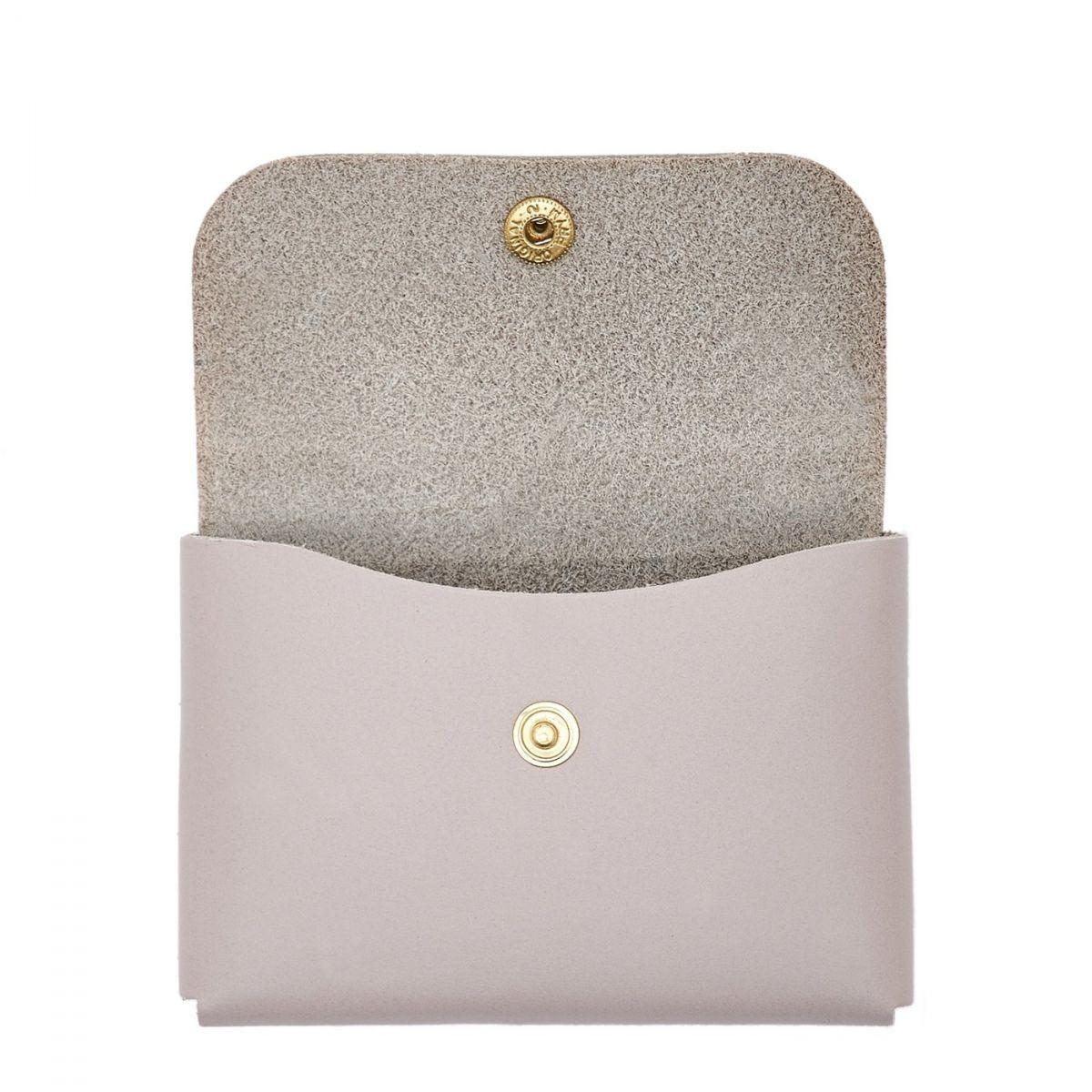 Card Case in Cowhide Double Leather color Mauve - SCC032 | Details